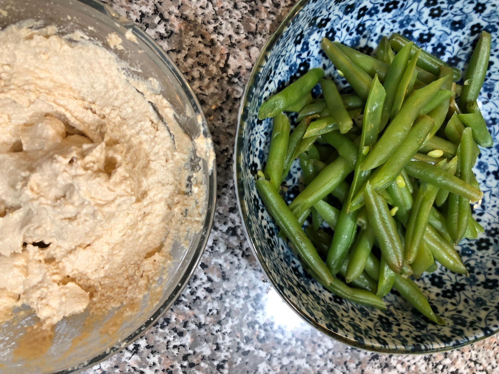 Green Beans with Tofu and Tahini Dressing