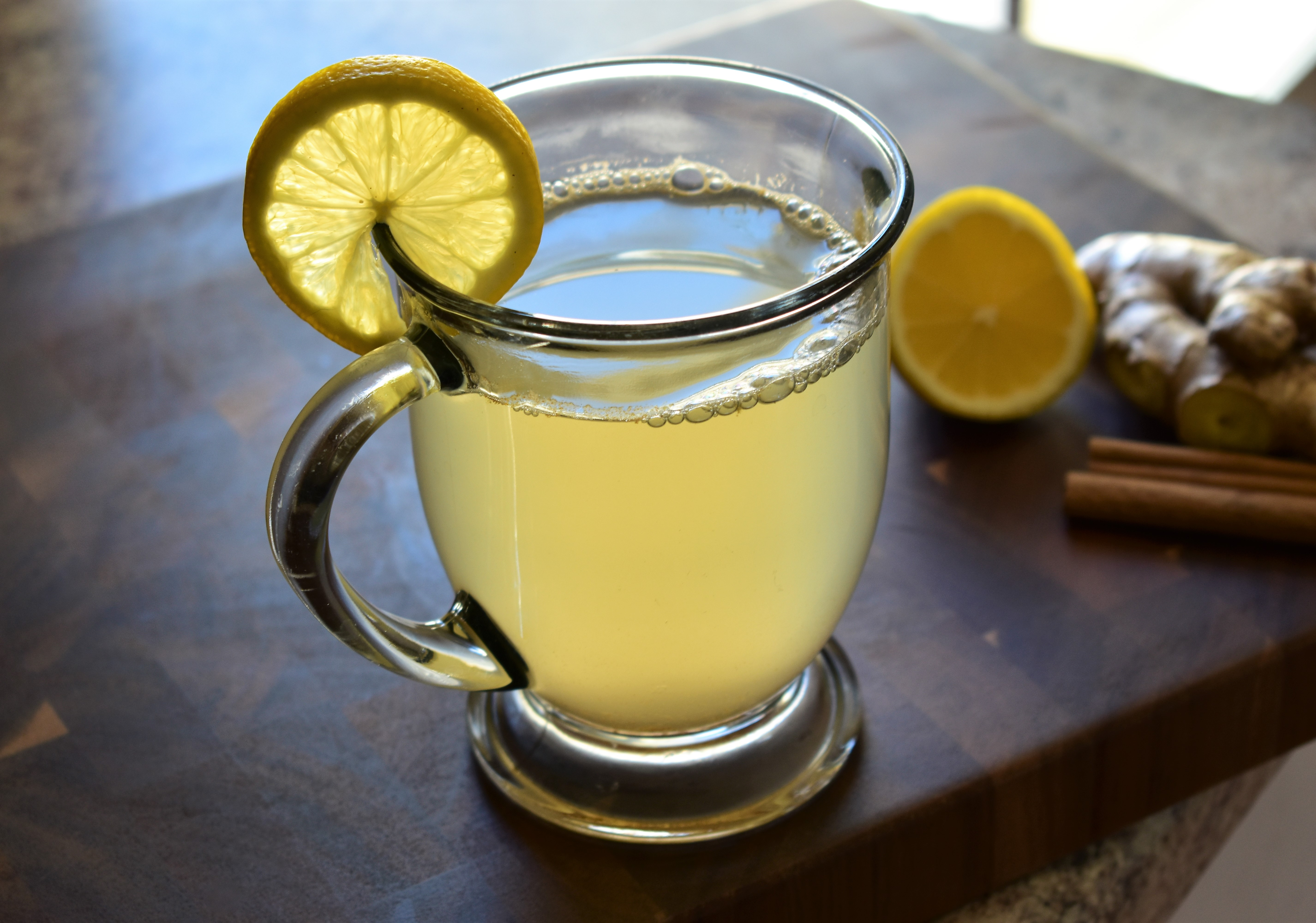 Warm Lemon, Honey, and Ginger Soother