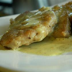 Pork Scaloppini with Mustard Creme Marianne