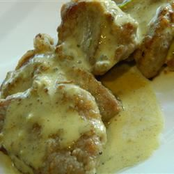 Pork Scaloppini with Mustard Creme