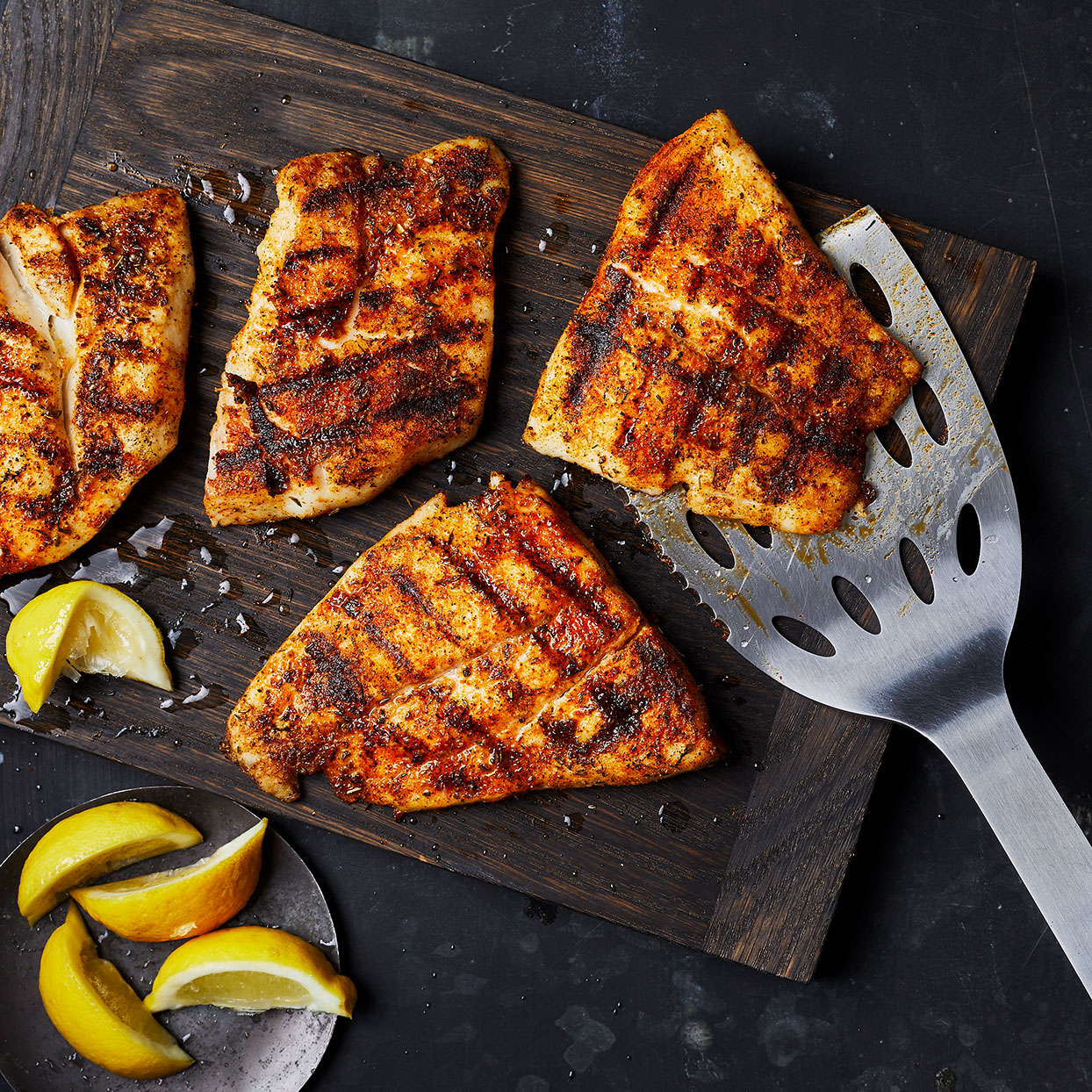 This simple grilled snapper has clean flavors and a nice char flavor from the grill. It's well seasoned but not overly spicy. Serve along with grilled veggies or a fresh green salad to make it a meal. Source: EatingWell.com, May 2020