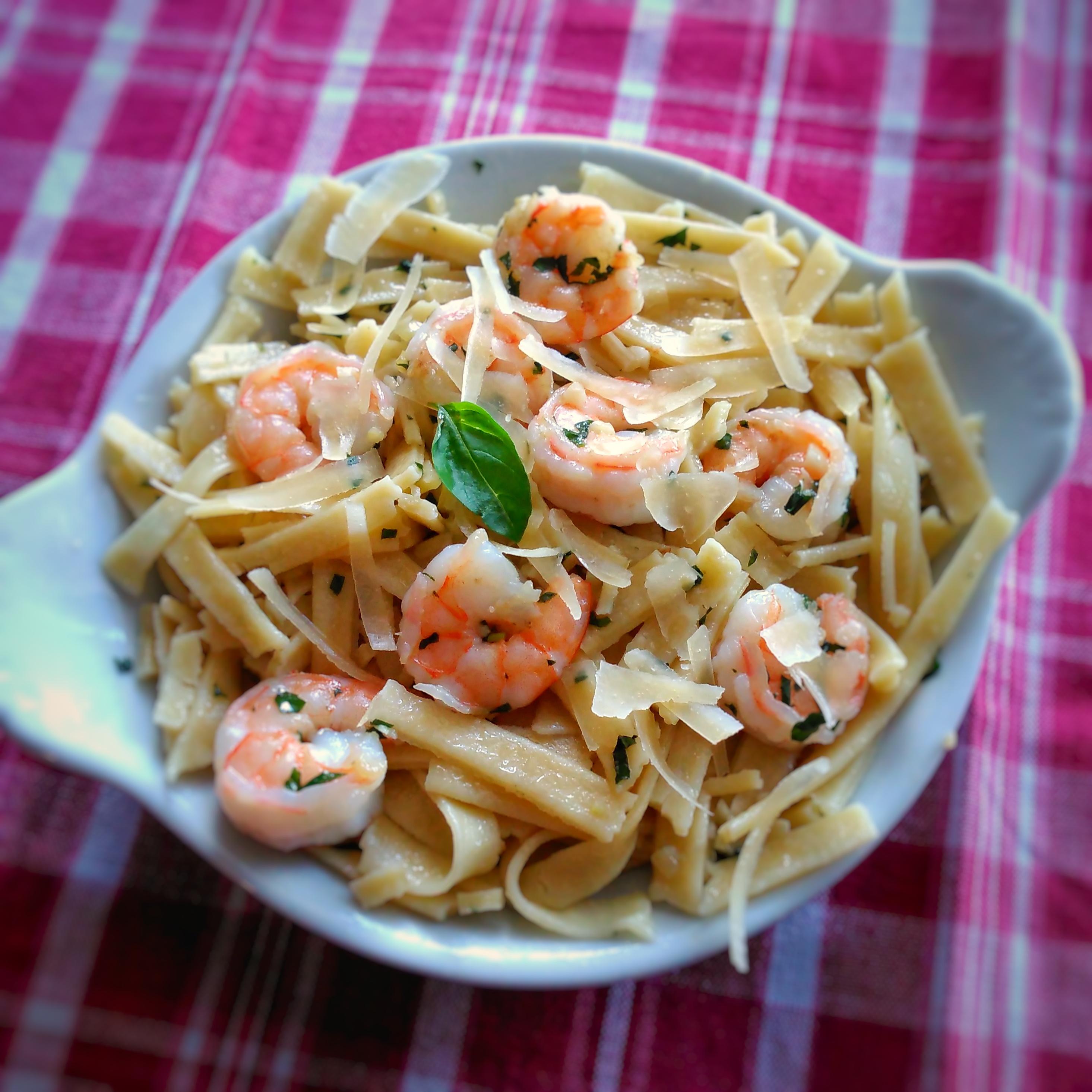 Linguine with Garlic-Butter Shrimp