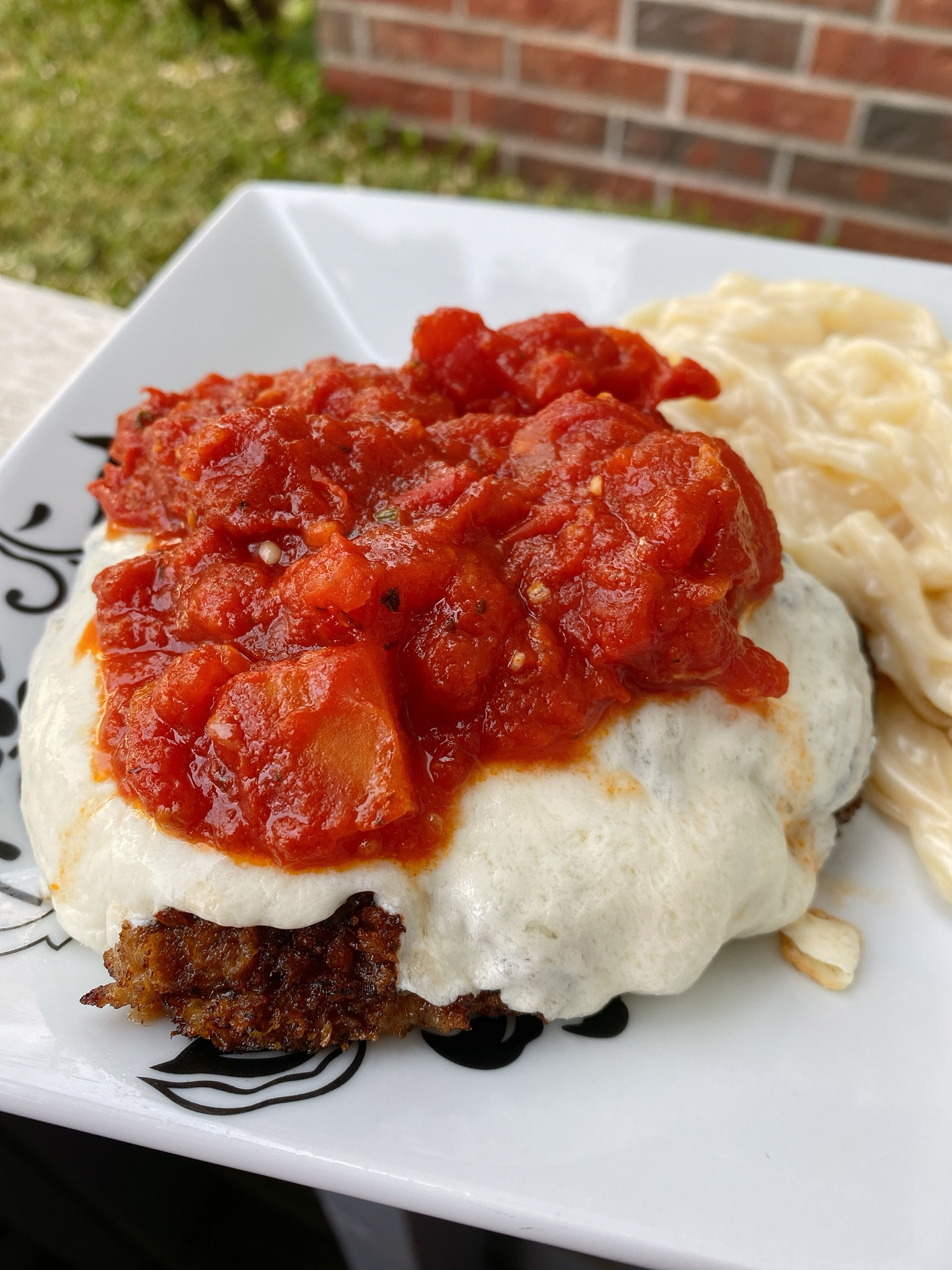 Cube Steaks Parmigiana with Fresh Tomato Sauce