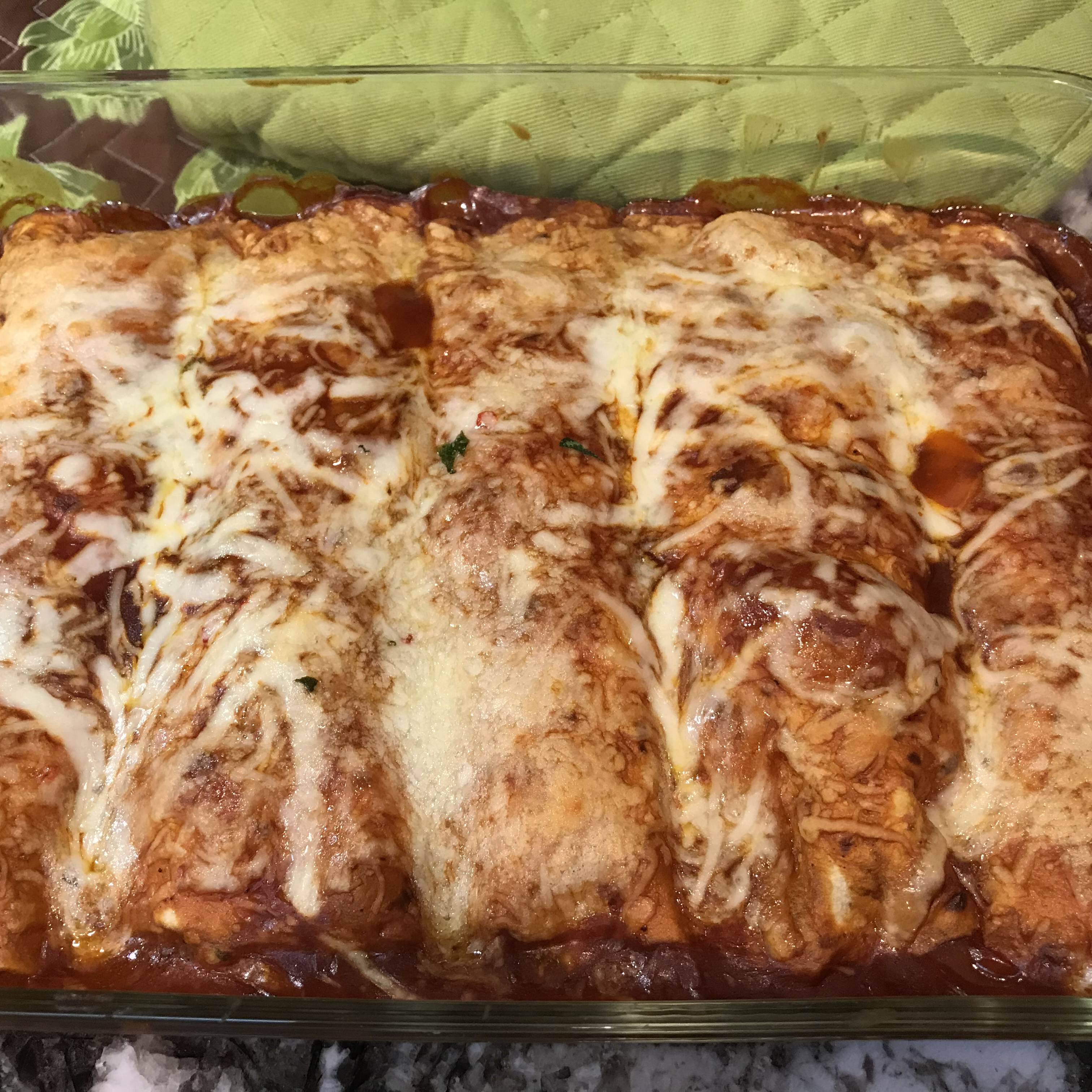 Spinach and Chicken Enchiladas shellamor