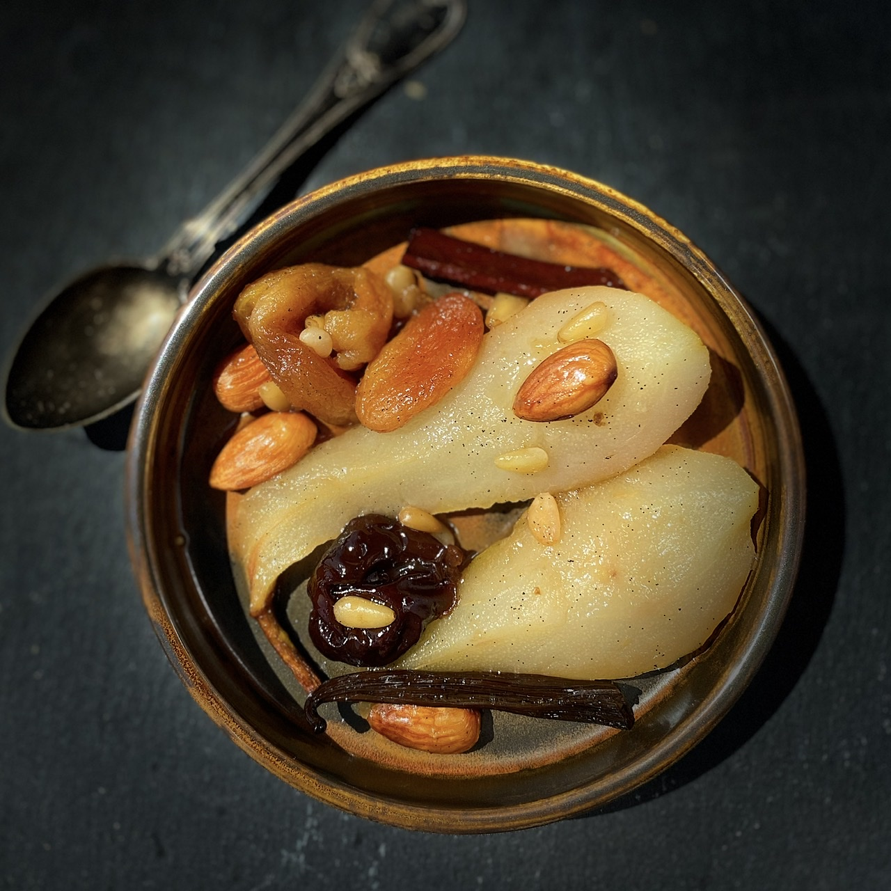 Pears and Dried Fruits in a Tagine