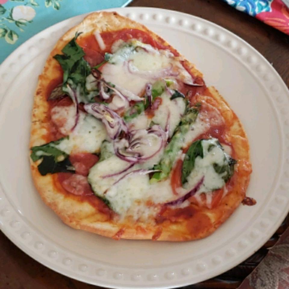 Naan Veggie Pizza Becka