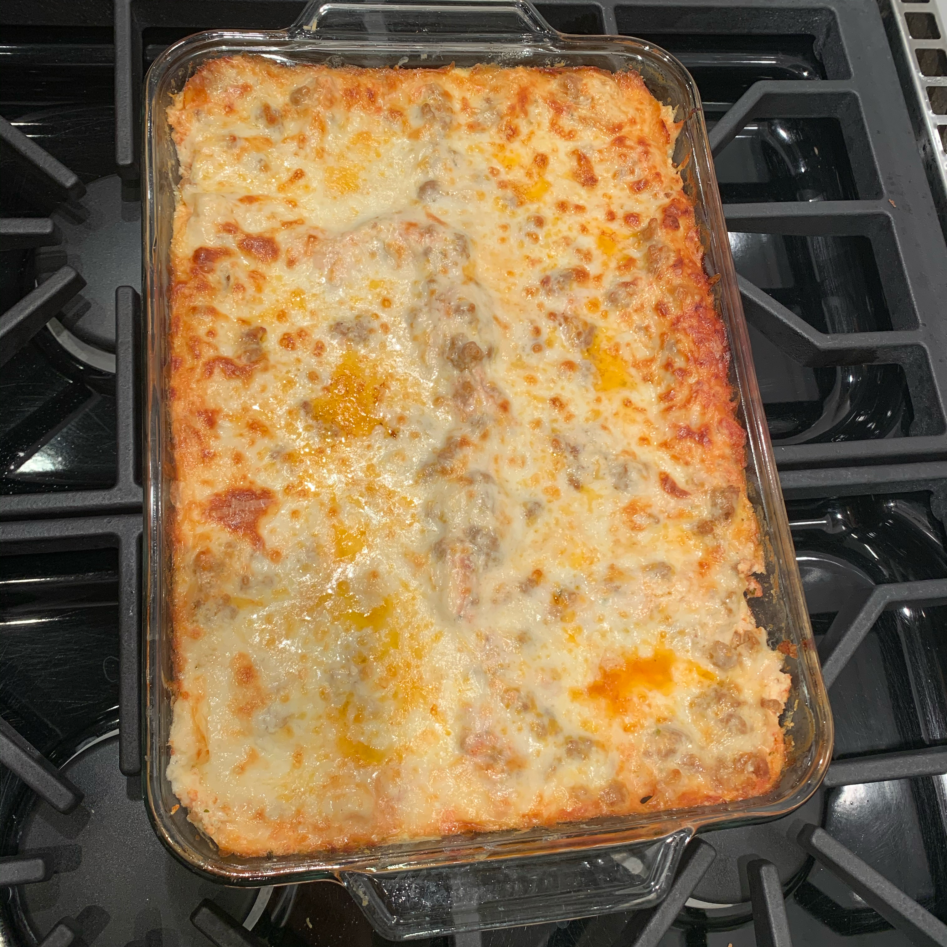 Italian Sausage and Mushroom Lasagna with Bechamel Sauce Vanessa Avellar Darvish