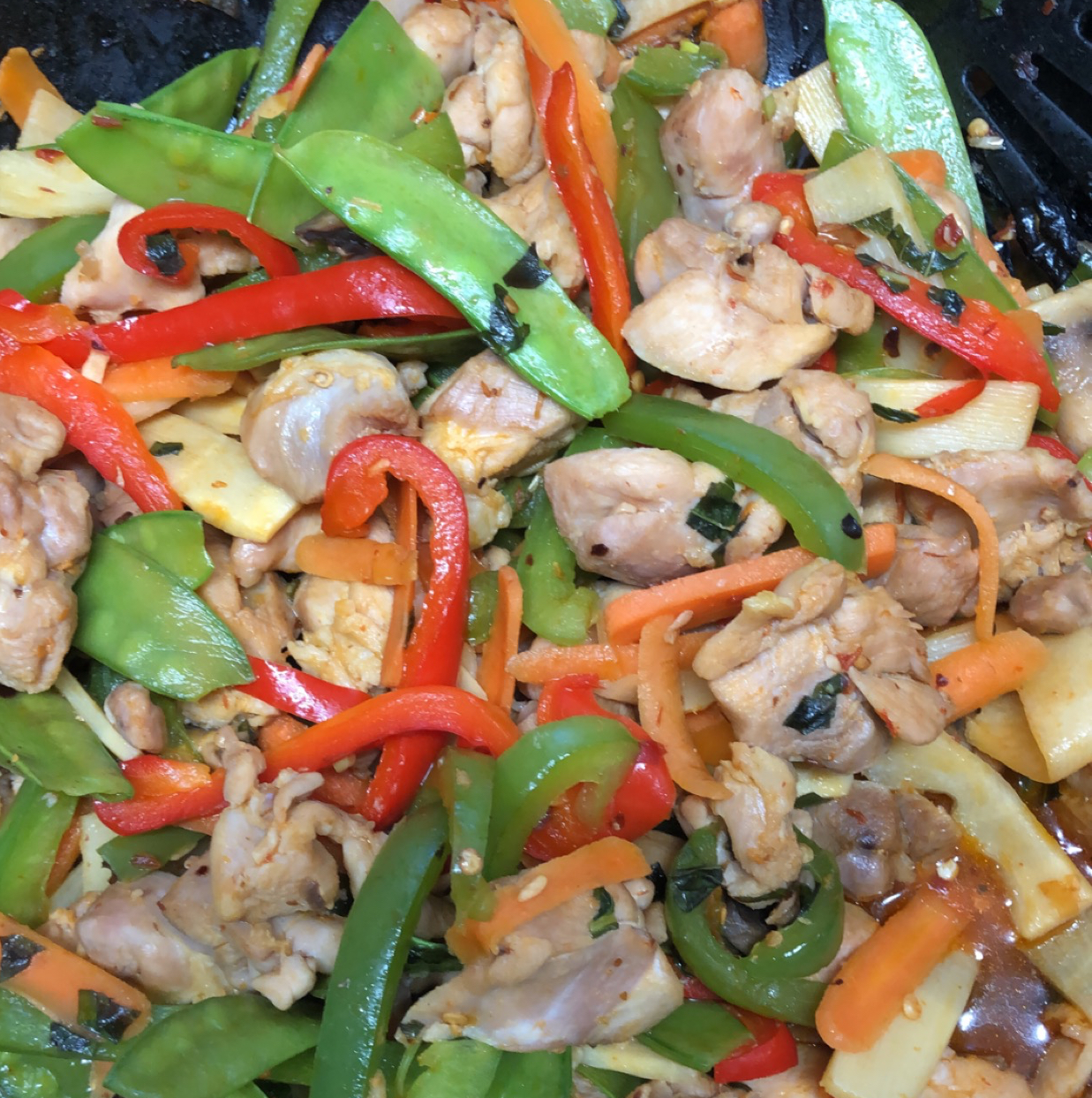 NP's Spicy Thai Basil Chicken and Veggies Mardy