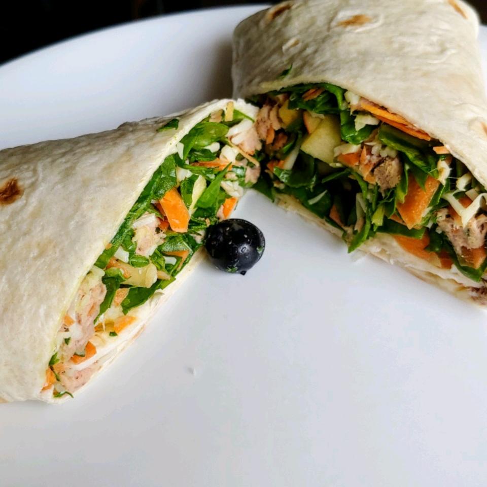 Fruit, Veggie, and Tuna Salad Wrap andylogan