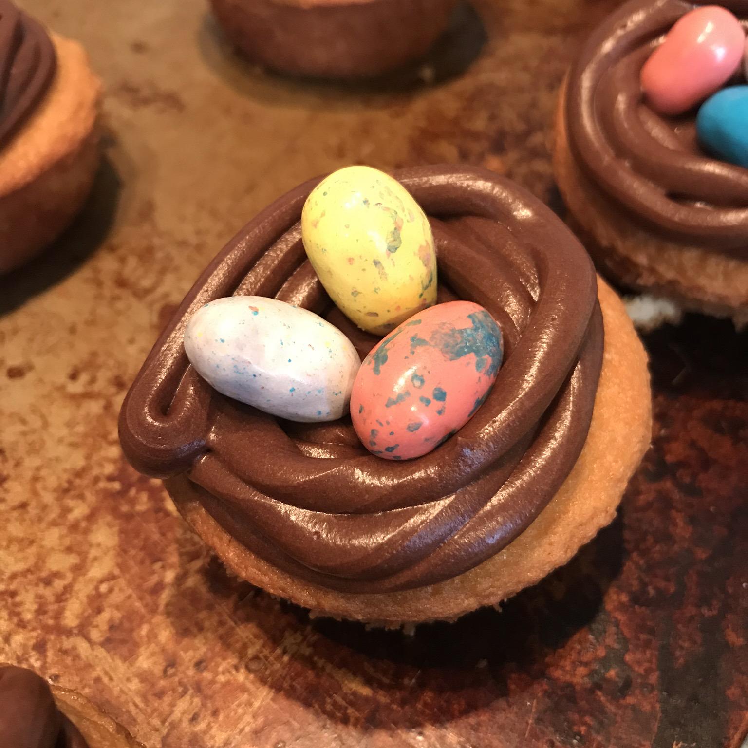 Easter Bird Nest Cupcakes keelan clough