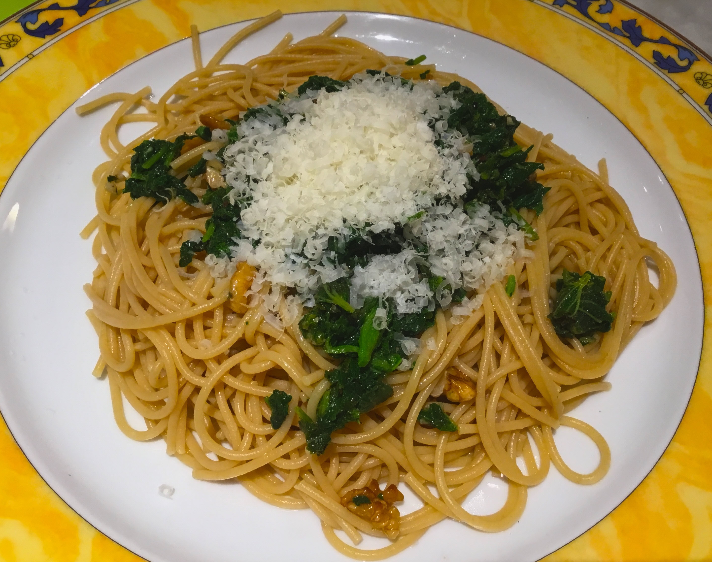 Pasta with Stinging Nettles