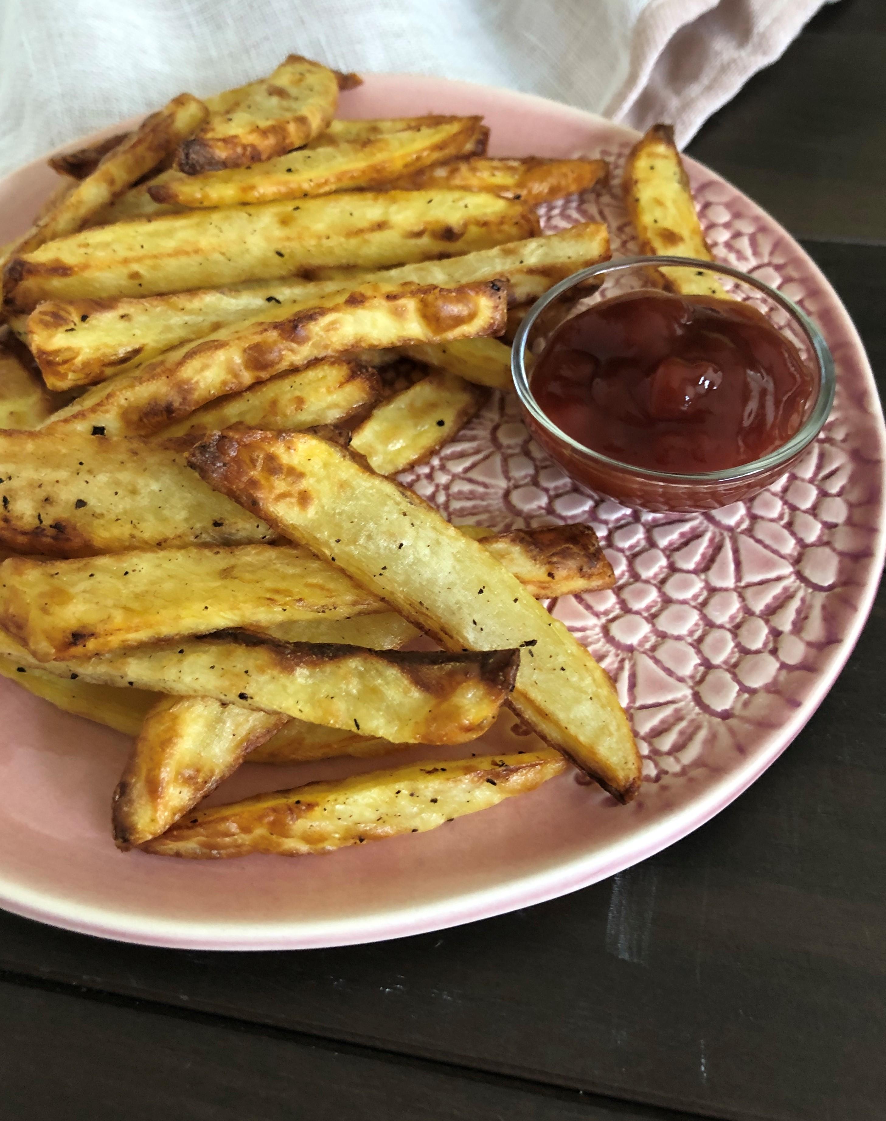 Air Fryer Salt and Vinegar Fries for One LauraF