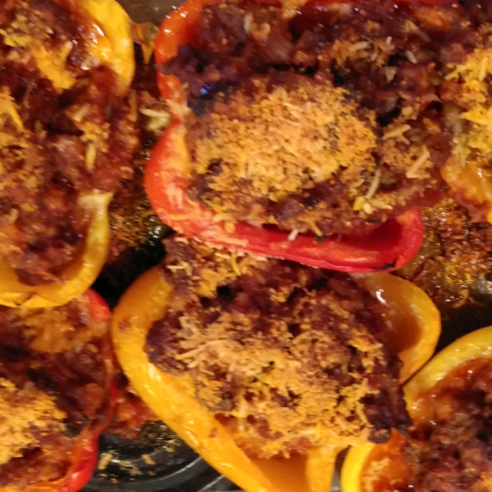 Bolognese Stuffed Bell Peppers Katherine Anderson