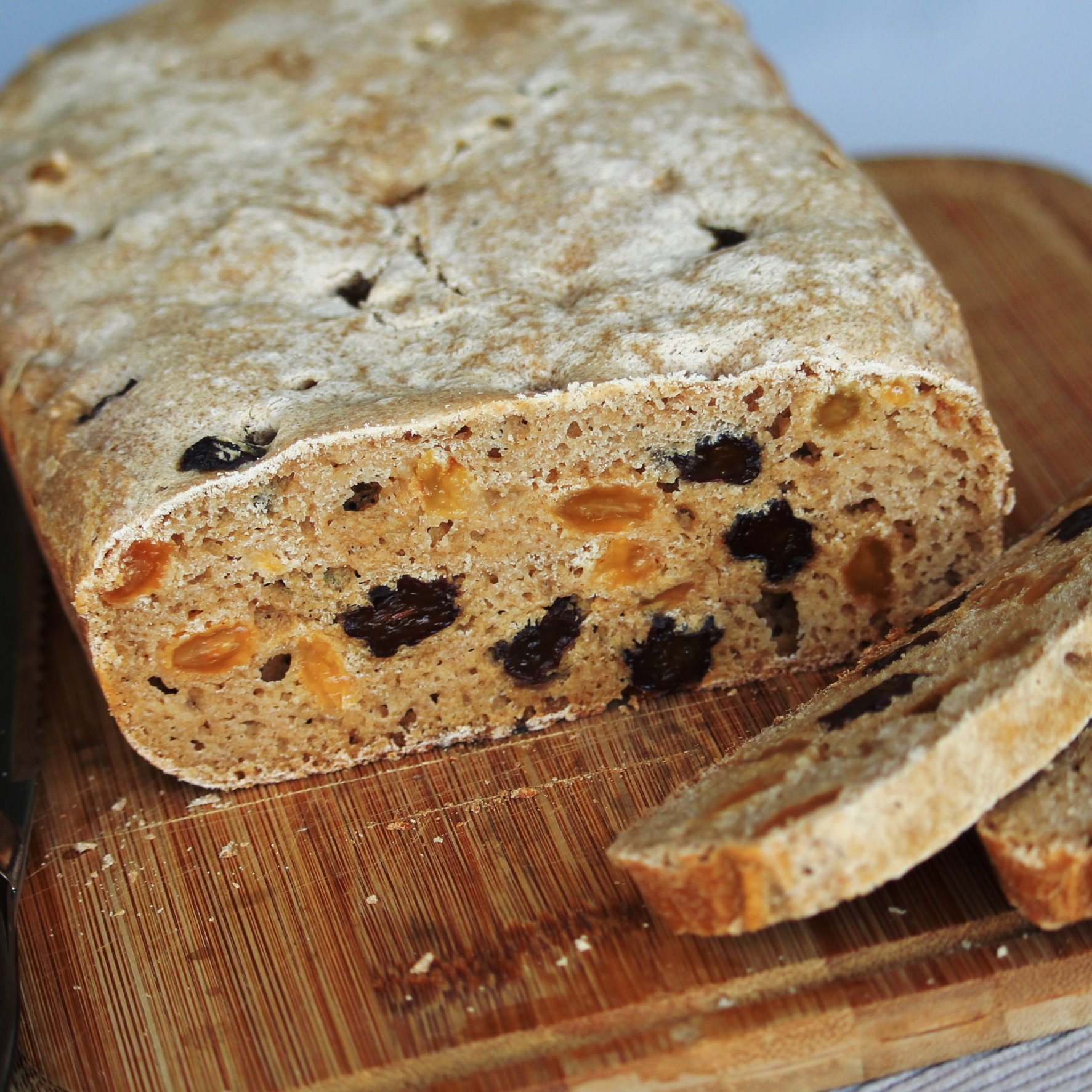 Gluten-Free Sourdough Raisin Bread