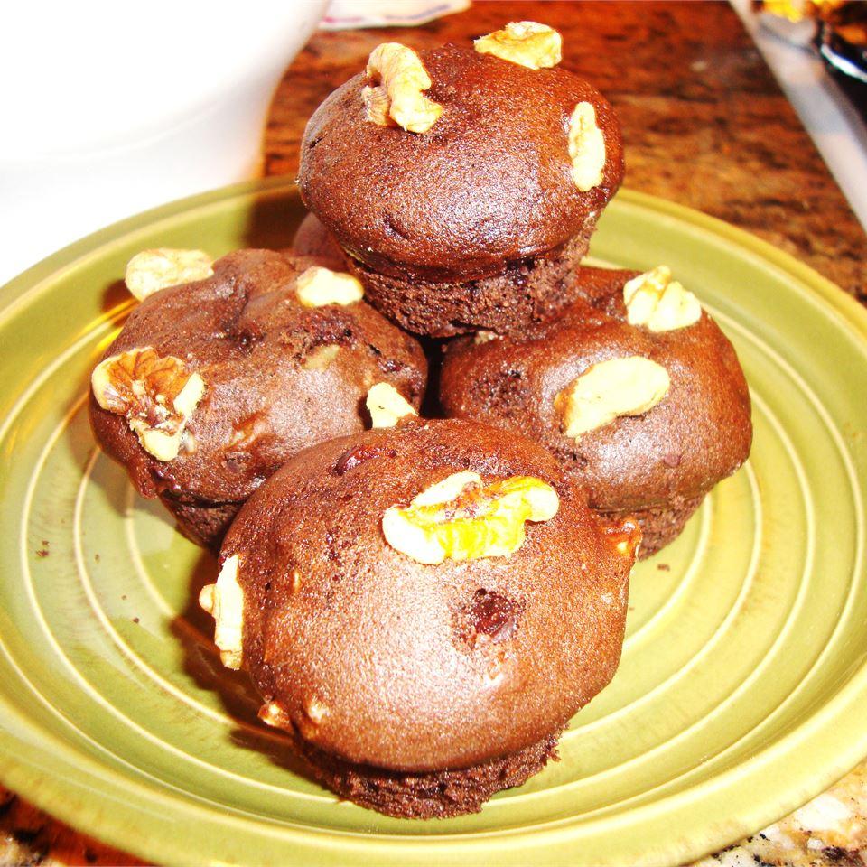 Chocolate Chocolate Chip Nut Muffins shakiraism