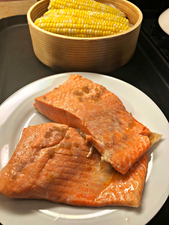 Okasan's Japanese Steamed Salmon