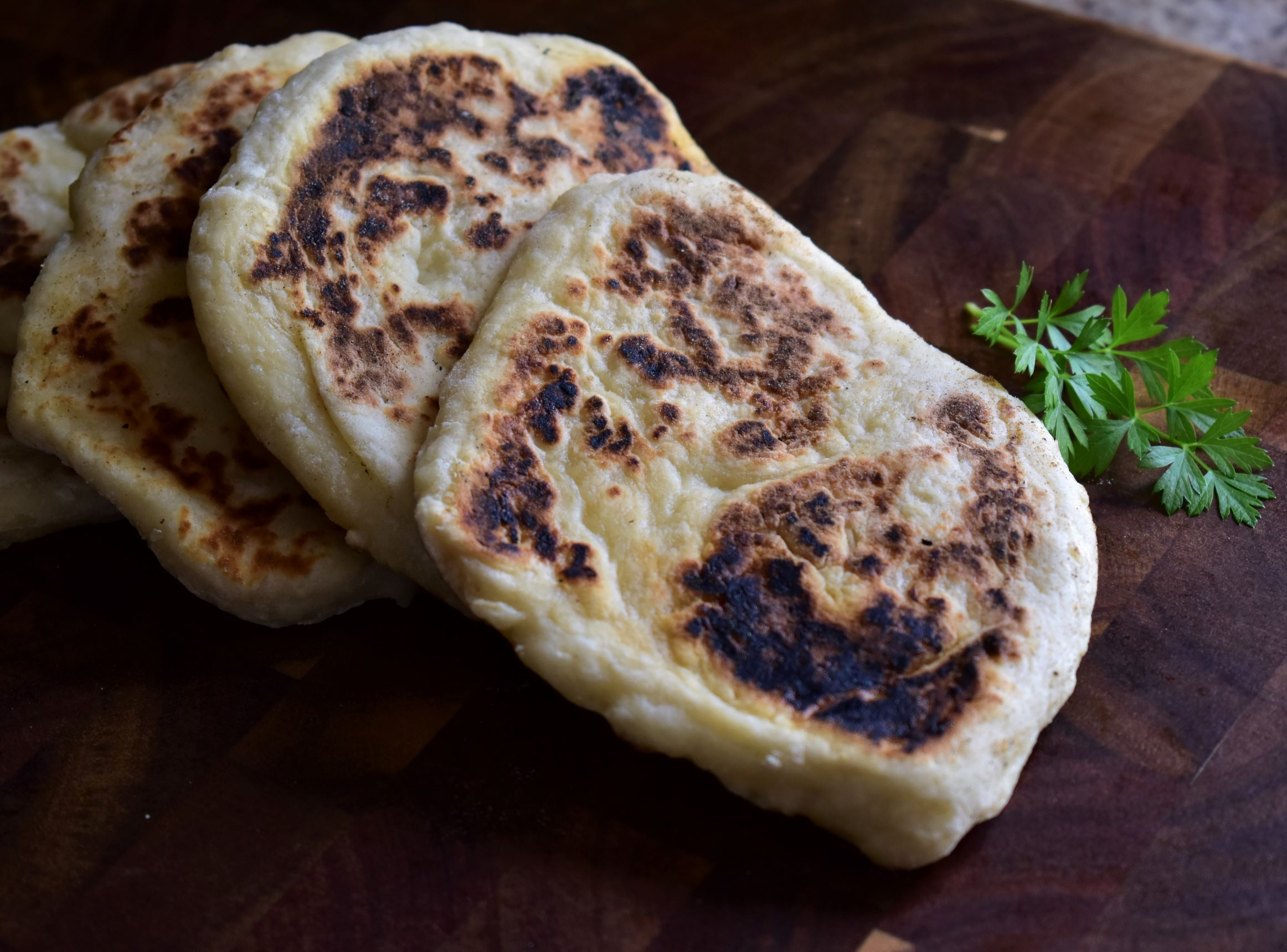 "If you have a delicious curry or butter chicken simmering on the stove and need a bread to sop up the extra sauce, this two-ingredient naan recipe is the way to go. Reviewers loved it this year when we were limiting grocery store visits but eager to not miss out on any dish.                                   ""Made this in a pinch cause I didn't have yeast to make the real bread. But, it turned out so well, my husband said, why would you want to take all day to make it the long way! Exactly!"" writes home cook Langlay."