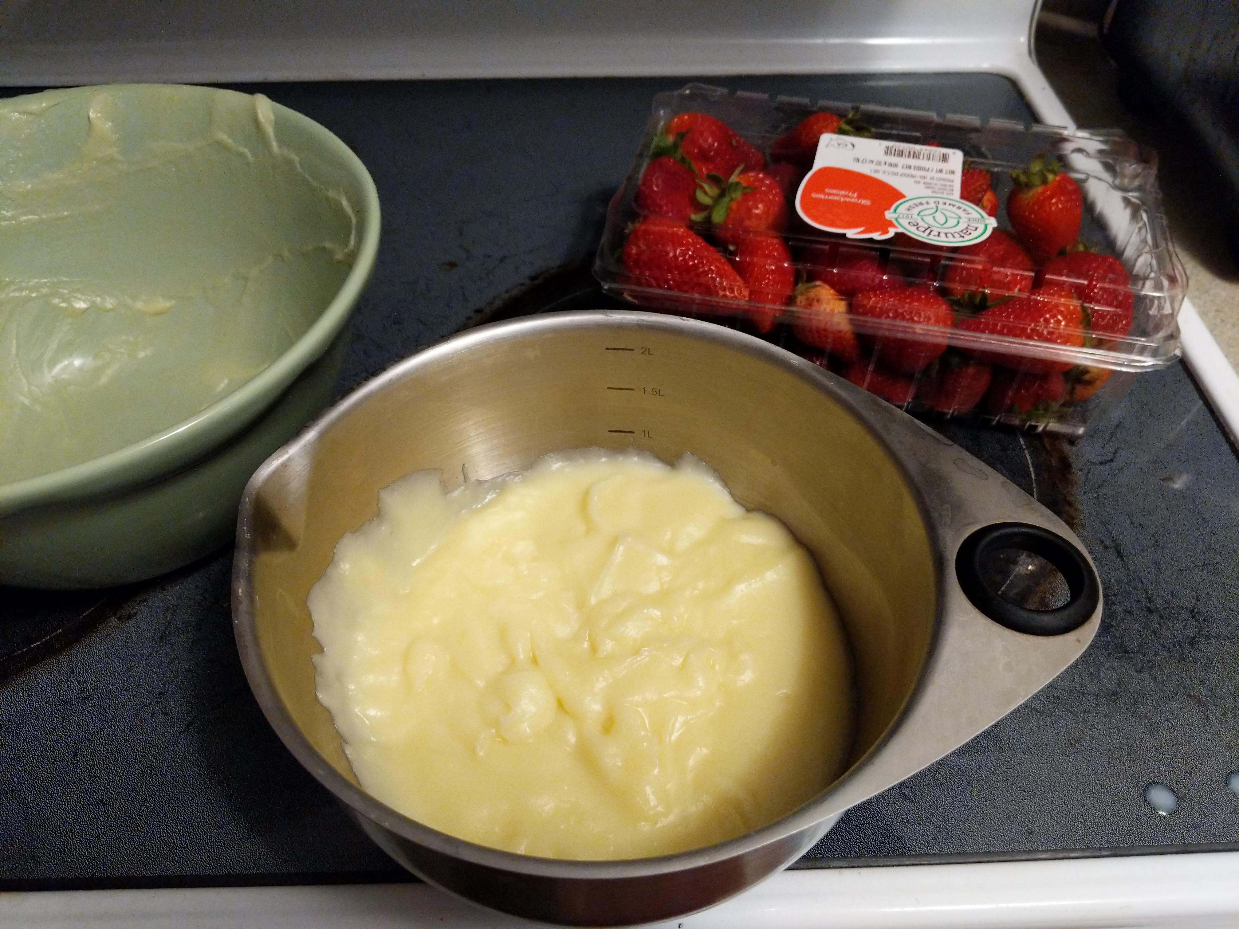 Easy Custard Cake Filling