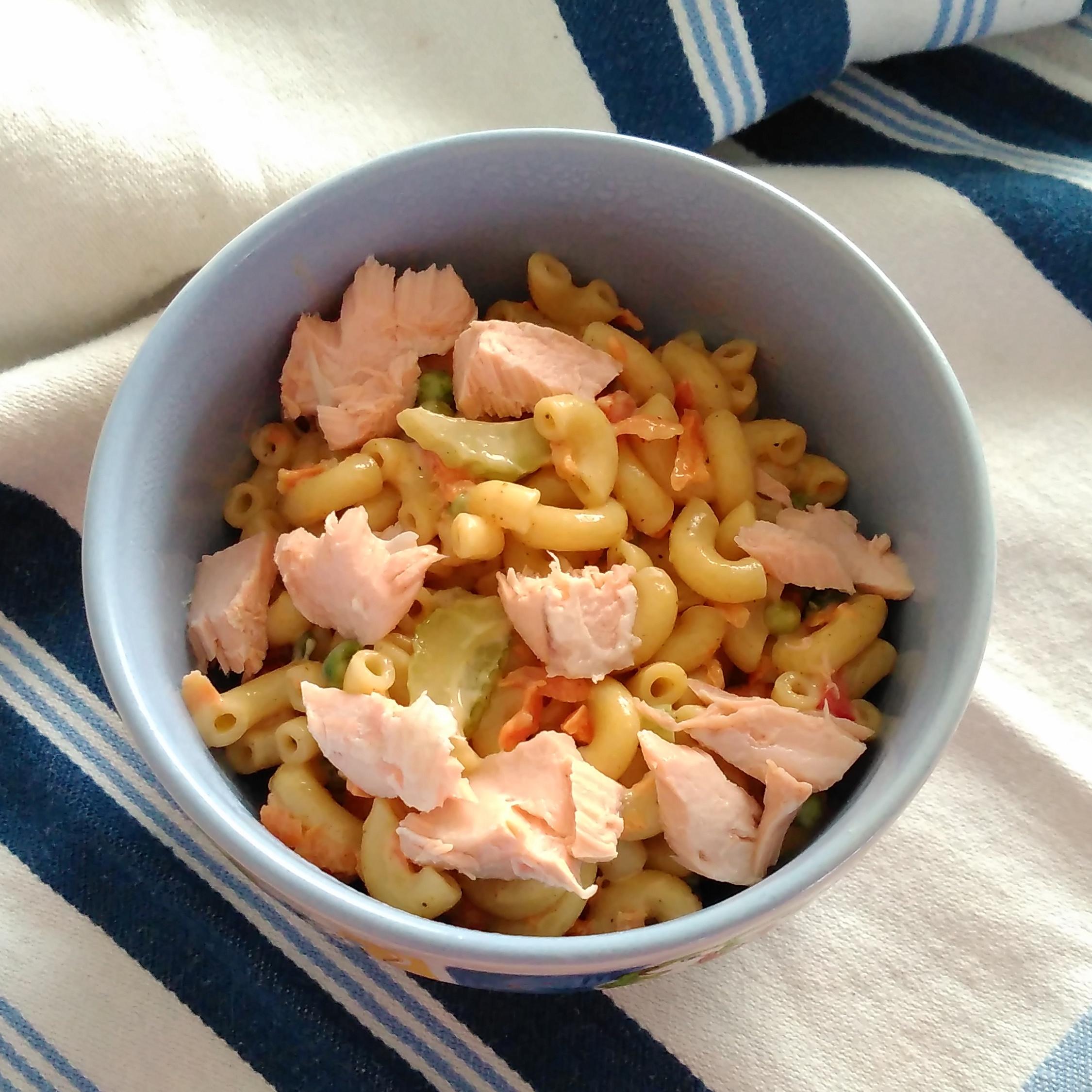 Creamy Salmon Pasta Salad Bren