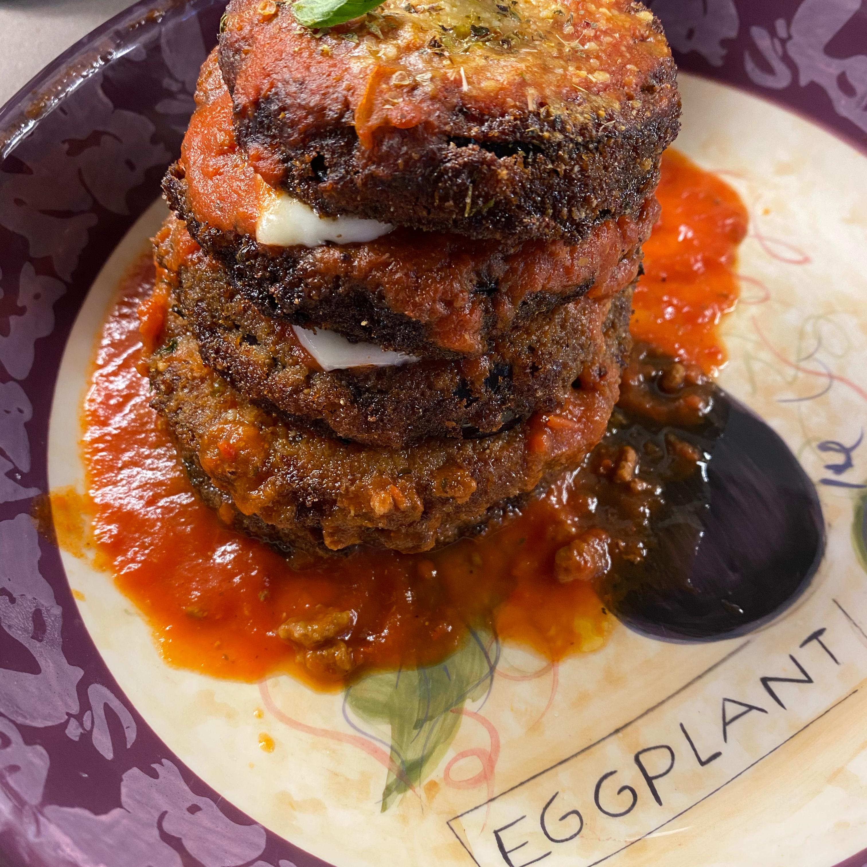 Crispy Eggplant Parmesan Stacks Billy Rodarbal