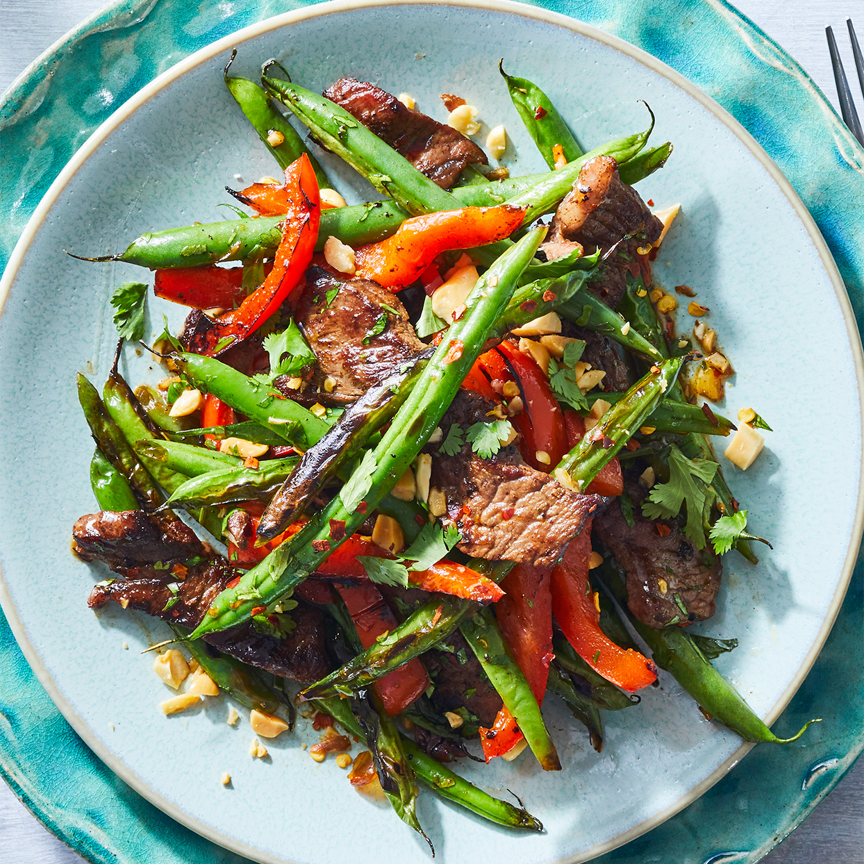 Stir-Fried Green Beans with Steak & Peanuts