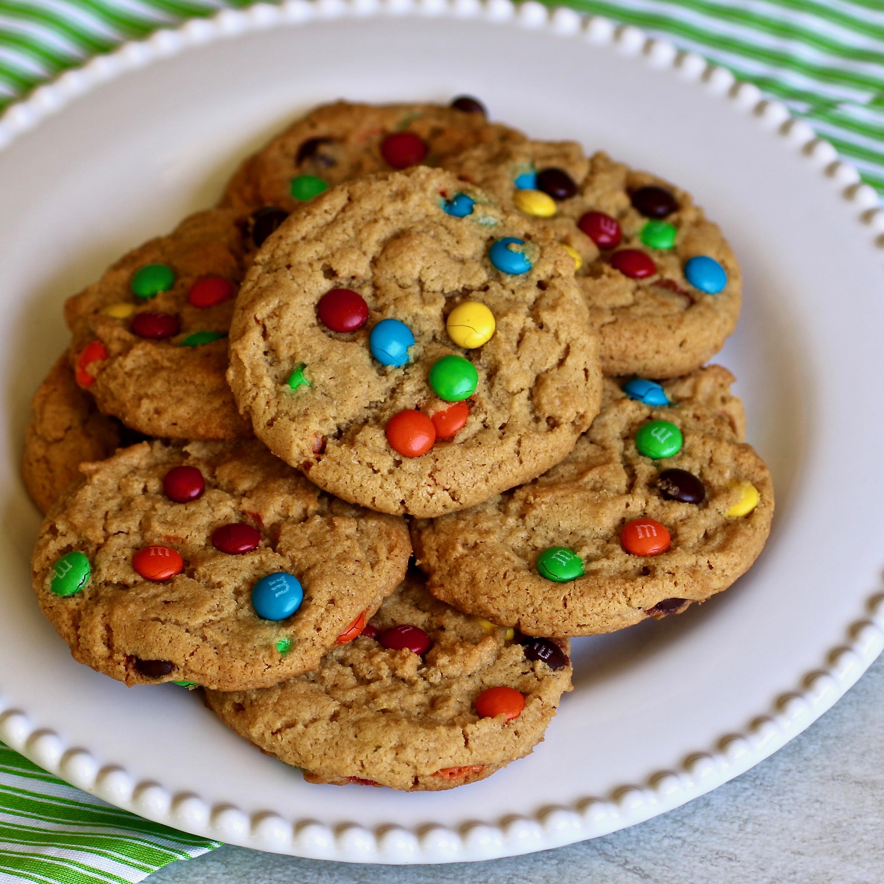 Peanut Butter Mini Candy-Coated Chocolates Cookies Jenn Hall
