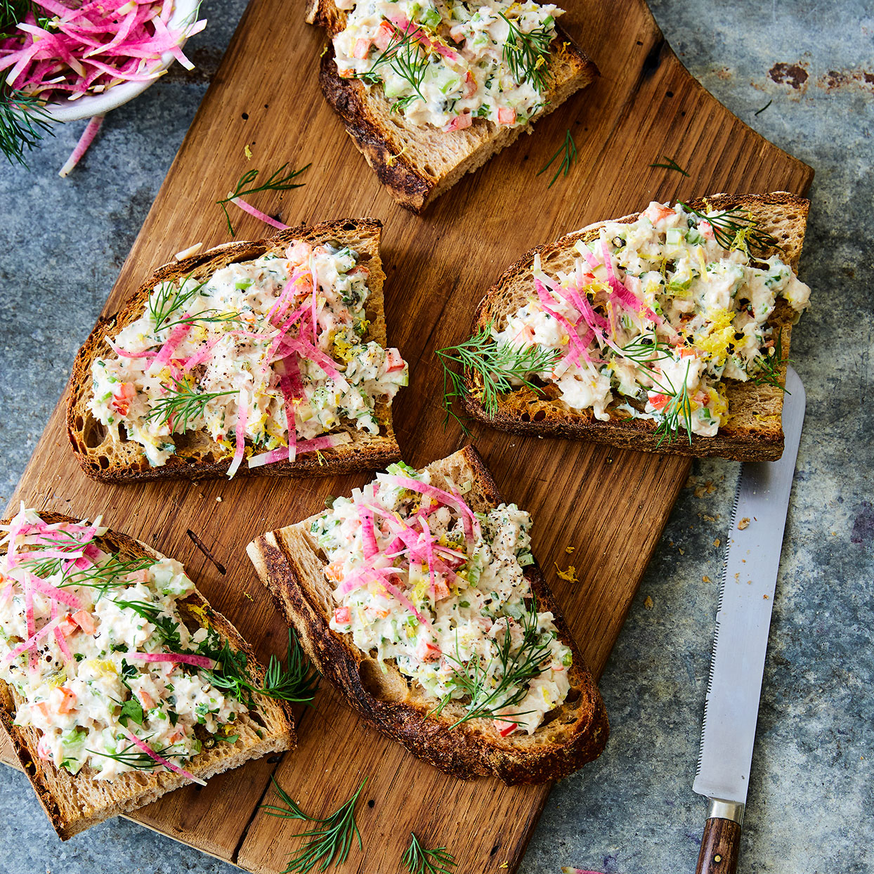 Serve this chunky smoked whitefish salad from chef Judi Barsness on toasted crusty bread, on crackers or mounded over a bed of salad greens. Source: EatingWell Magazine, June 2020