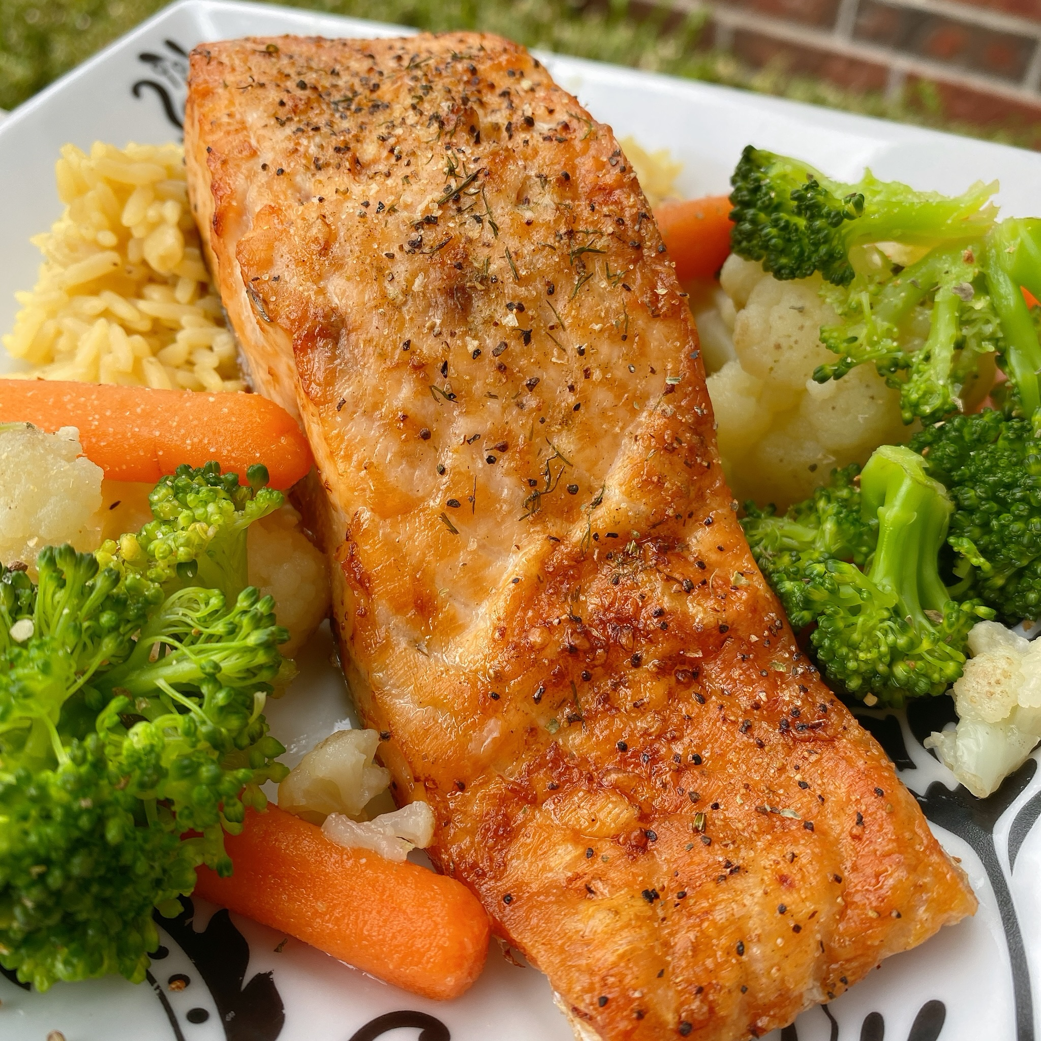 Air Fryer Salmon for One thedailygourmet