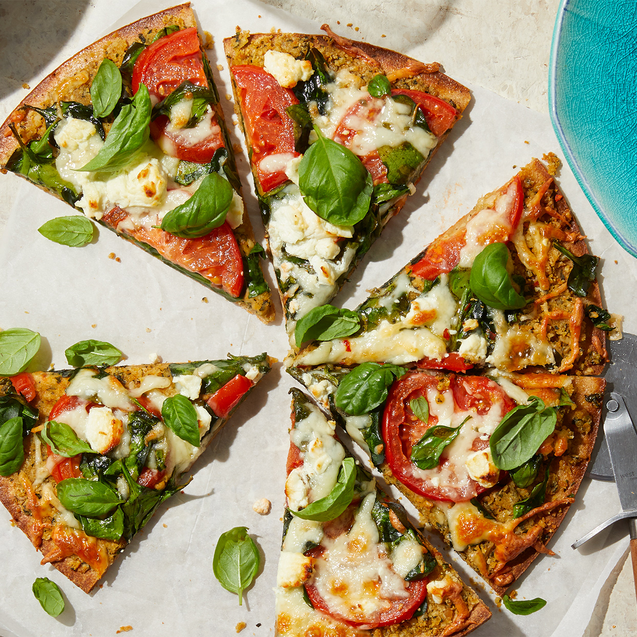 A flavorful combination of chickpeas, cashews, and garlic forms a protein-rich base for this homemade flatbread. Store-bought crust makes prep a breeze. Source: Diabetic Living Magazine, Summer 2020