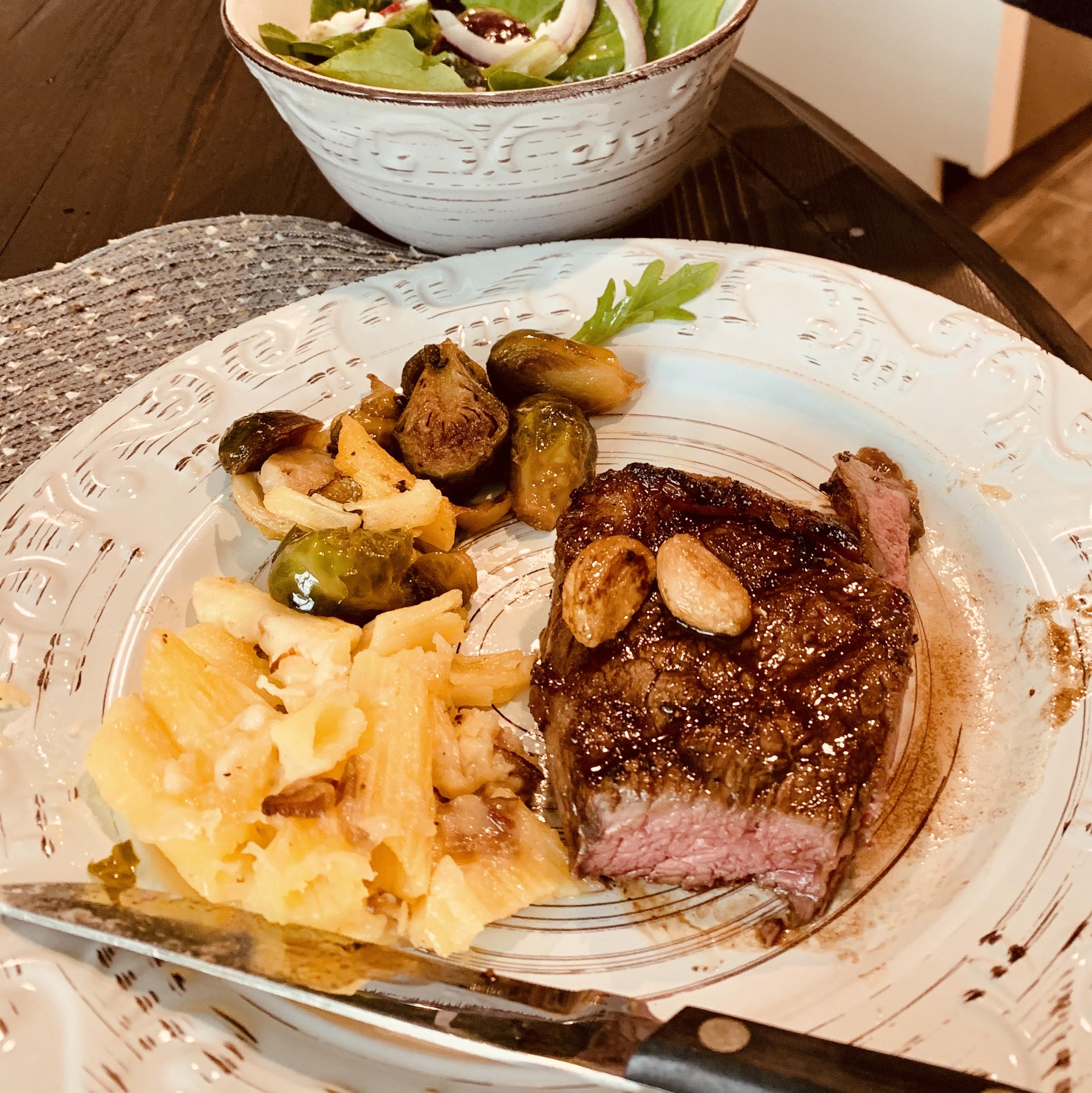 Garlic Steak with Garlic Mark Hudson