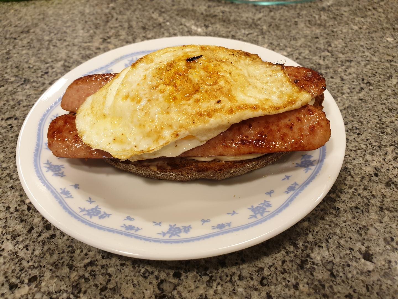 Cajun Egg Sandwich