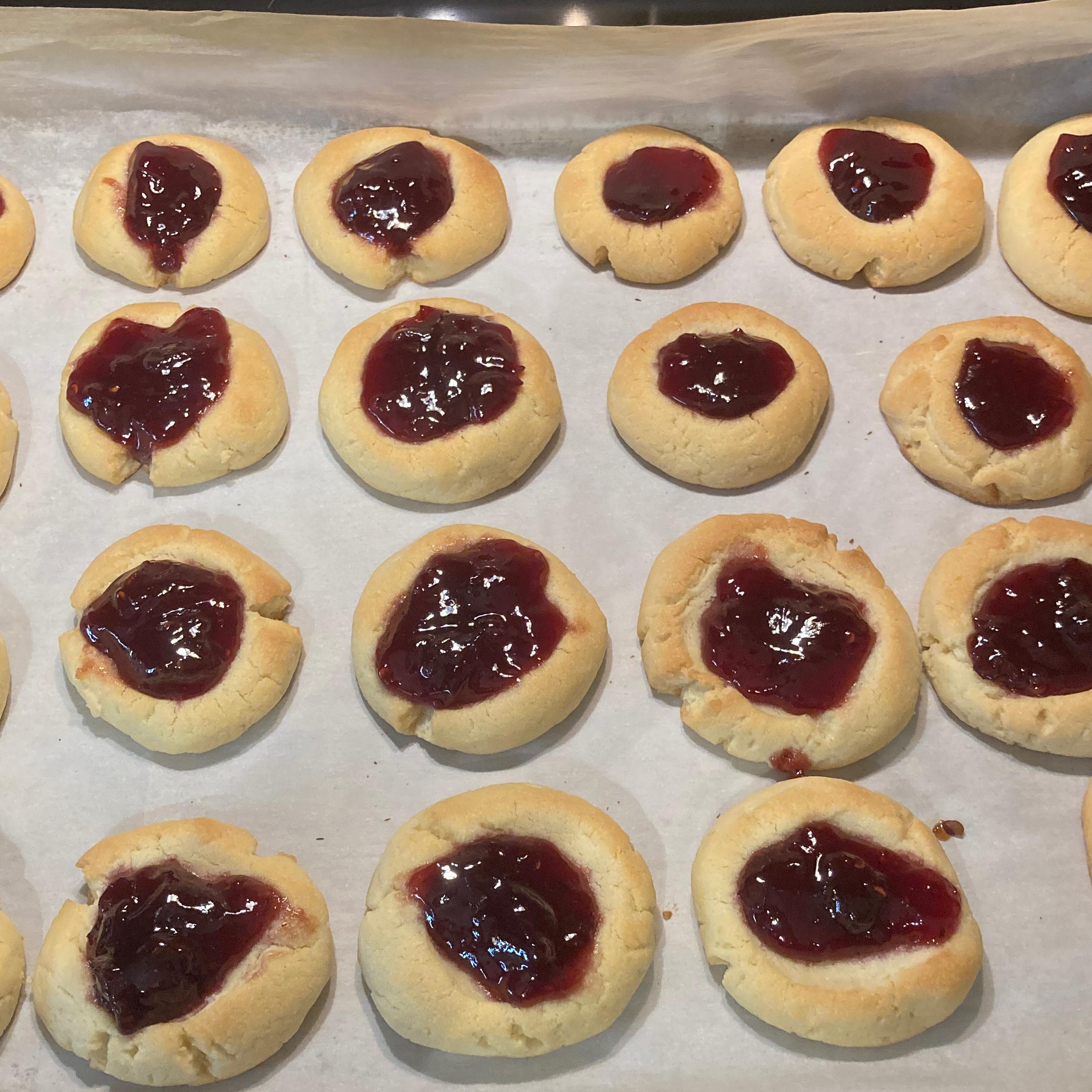 Jam Filled Thumbprint Cookies deliberateme