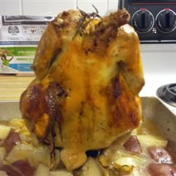 Beer Butt Rosemary Chicken