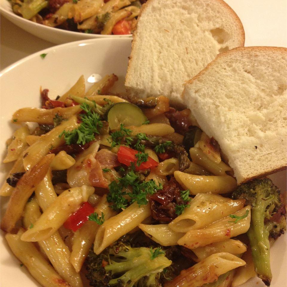 Penne Pasta with Veggies Jessica J