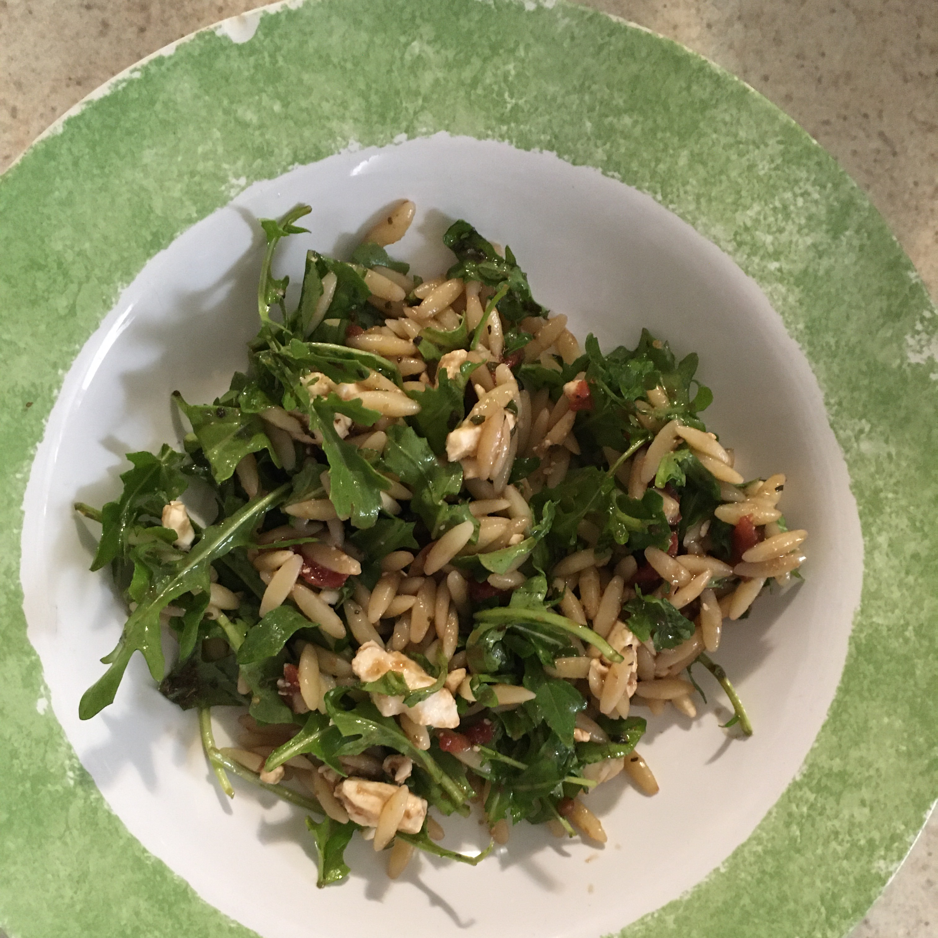 Chicken Florentine Salad with Orzo Pasta Tabitha Mobley