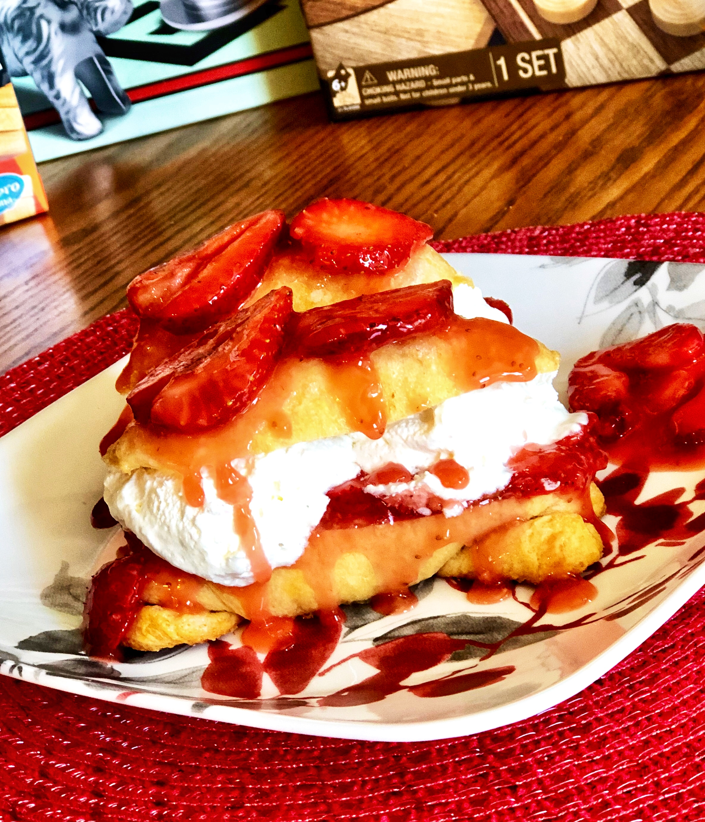 Strawberry Crescent Roll Shortcake
