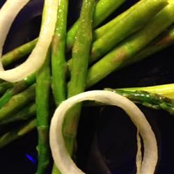 Pan-Fried Asparagus with Onions Michele McCormick