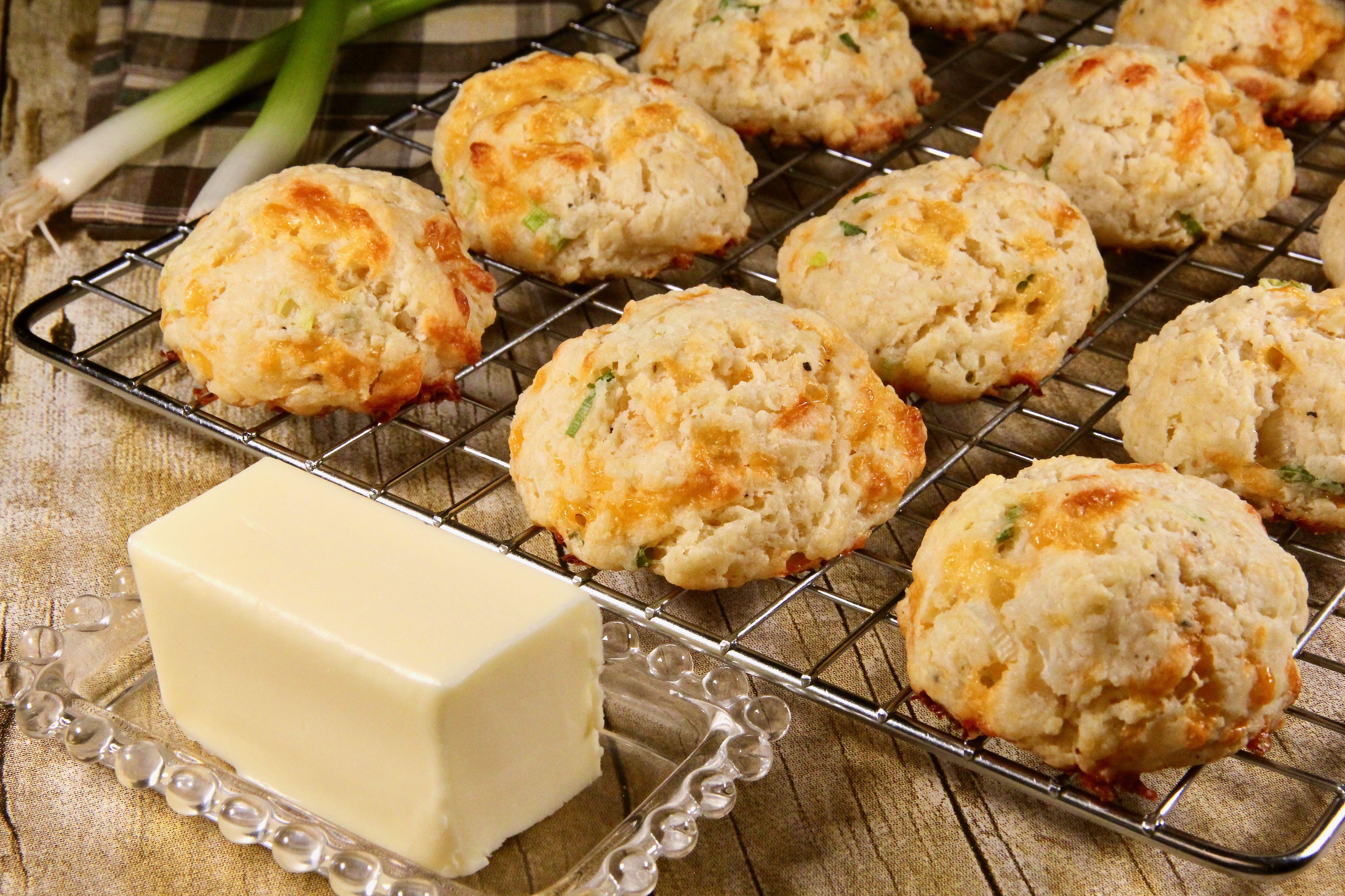 Cheddar-Scallion Buttermilk Biscuits