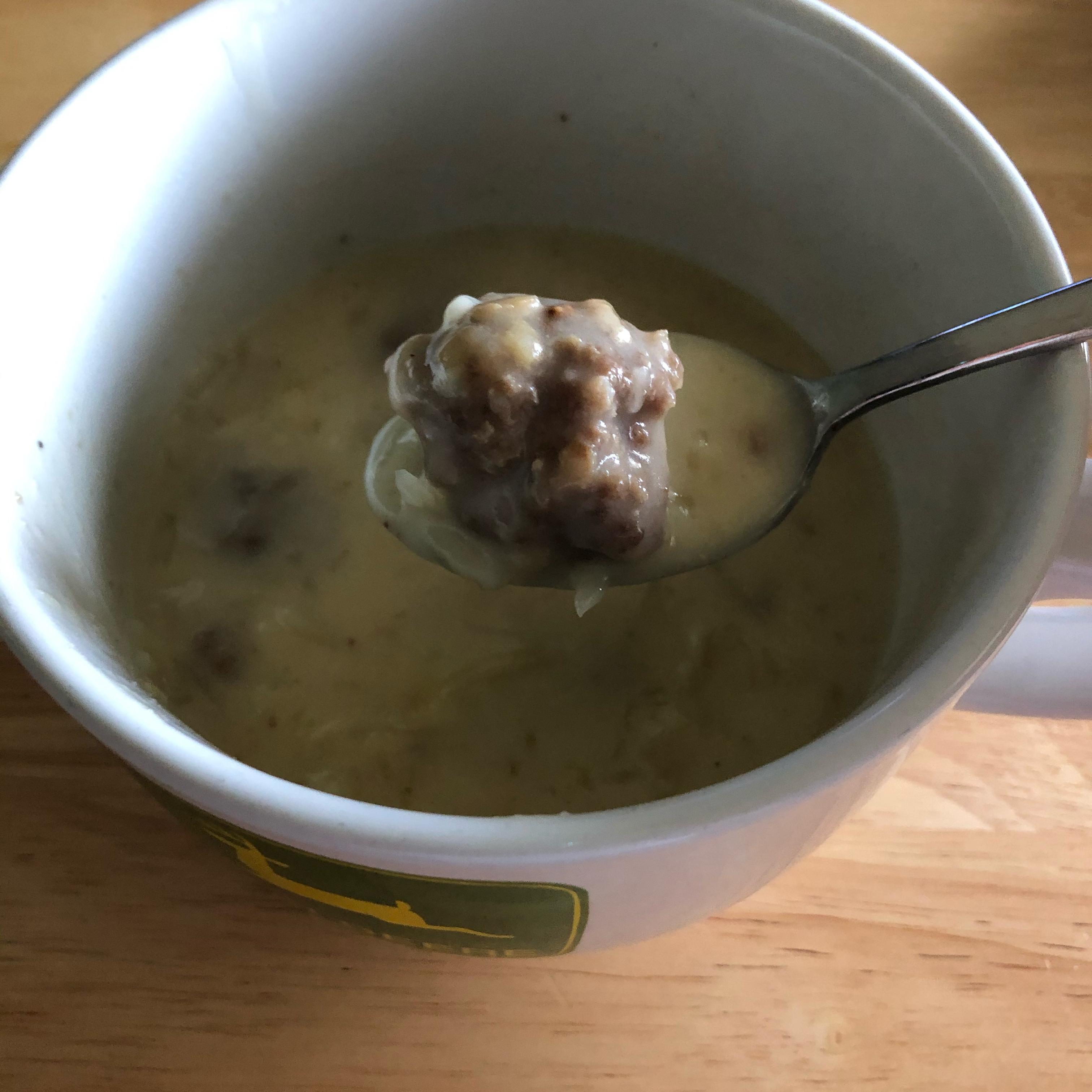 Sauerkraut Meatball Soup