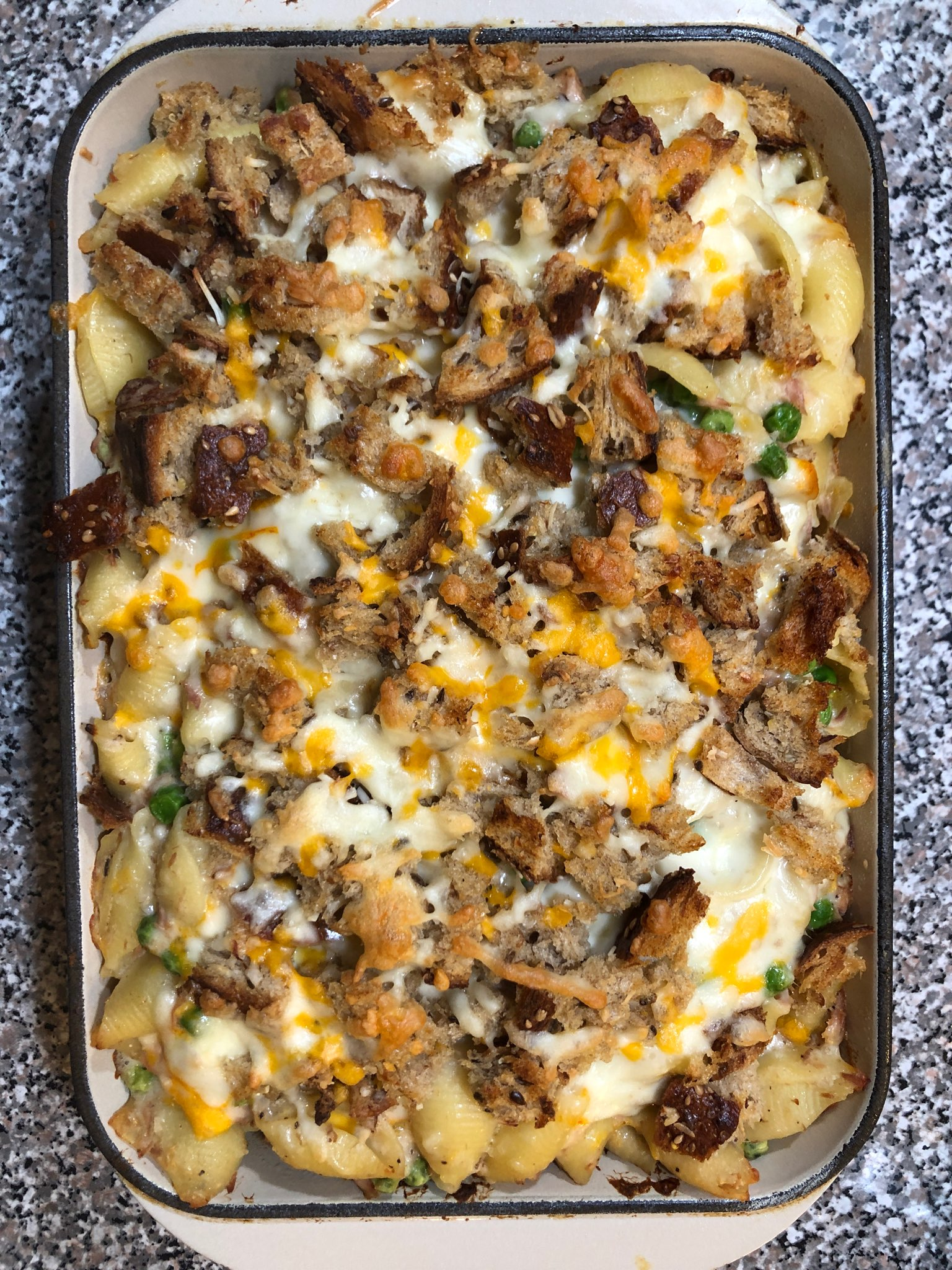Tuna Noodle Casserole with Bechamel Sauce