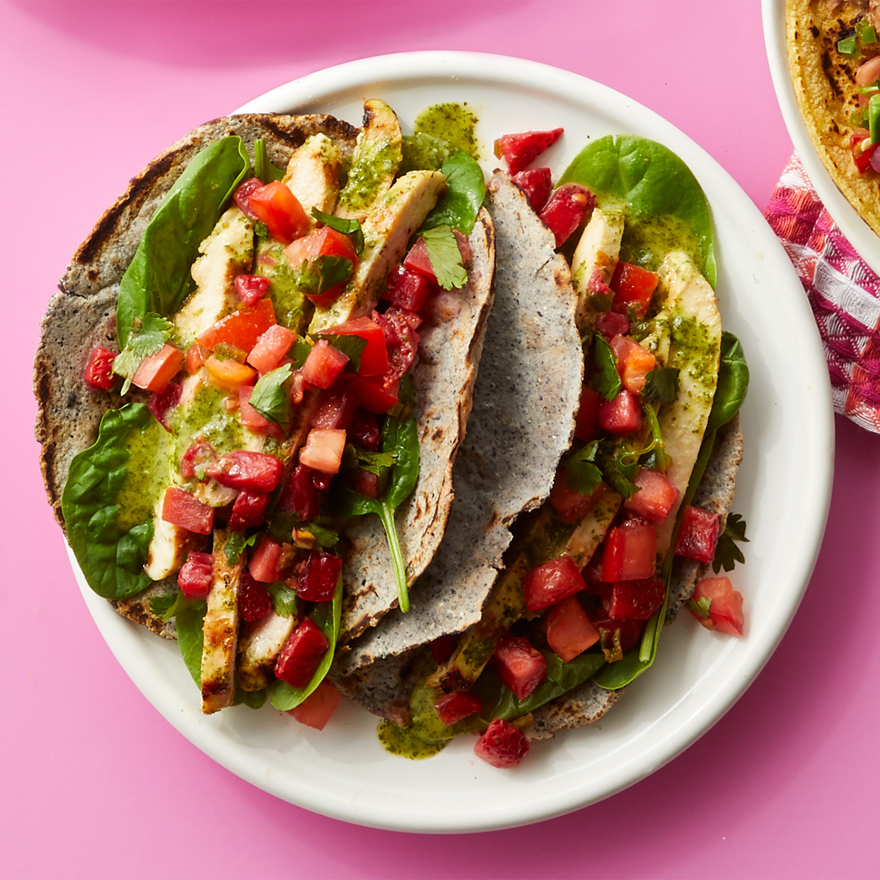 A quick lime marinade does double duty as a sauce in these tangy chicken tacos. Source: Diabetic Living Magazine, Summer 2020