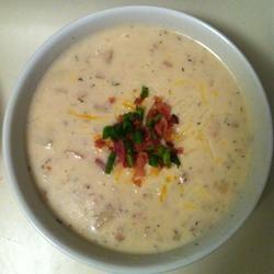 Nikki's Creamy Crock Pot Potato Soup Calikola