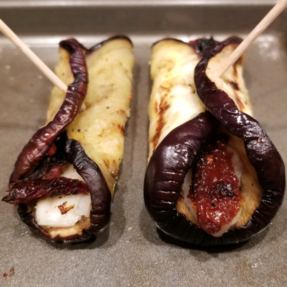 Grilled Eggplant Rollups Mireles Crew