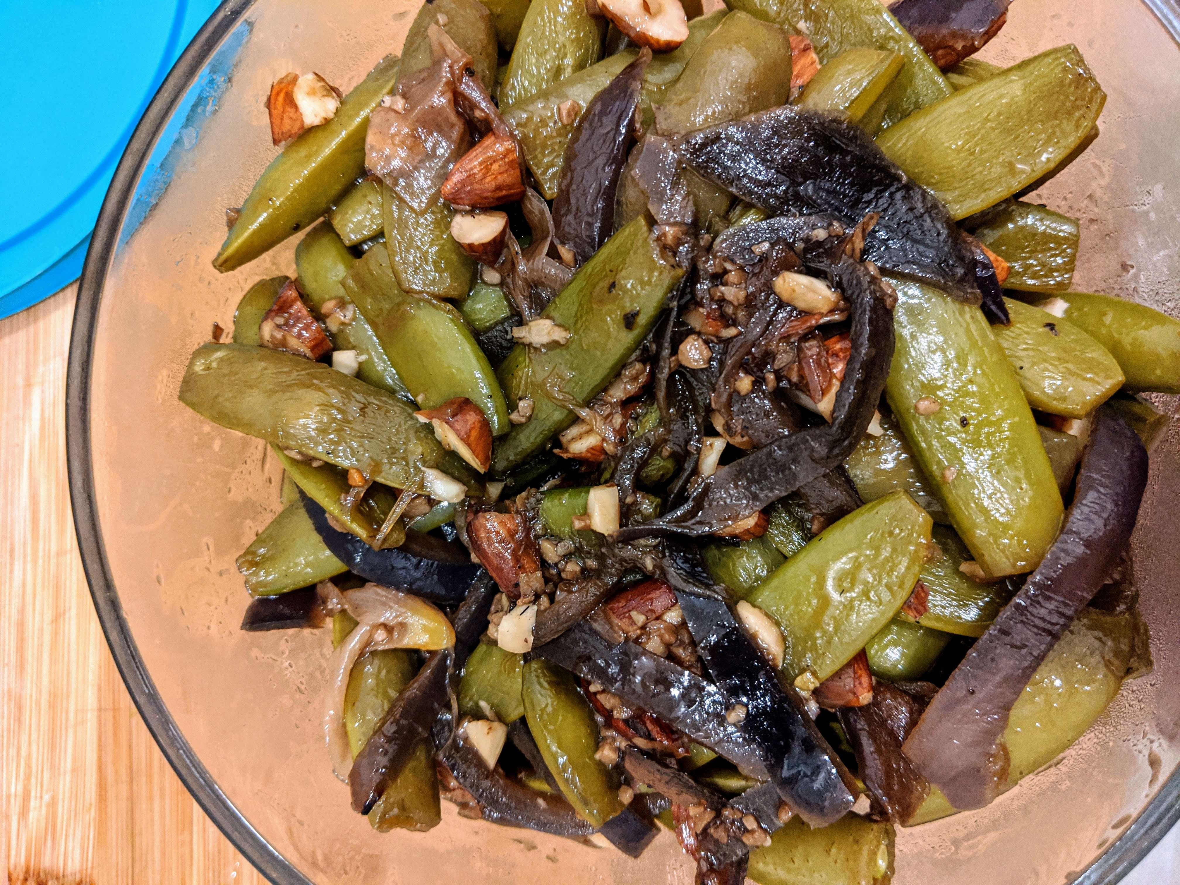 Sauteed Sugar Snap Peas and Green Beans