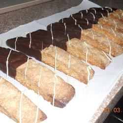 Chocolate Dipped Orange Biscotti Yobachus