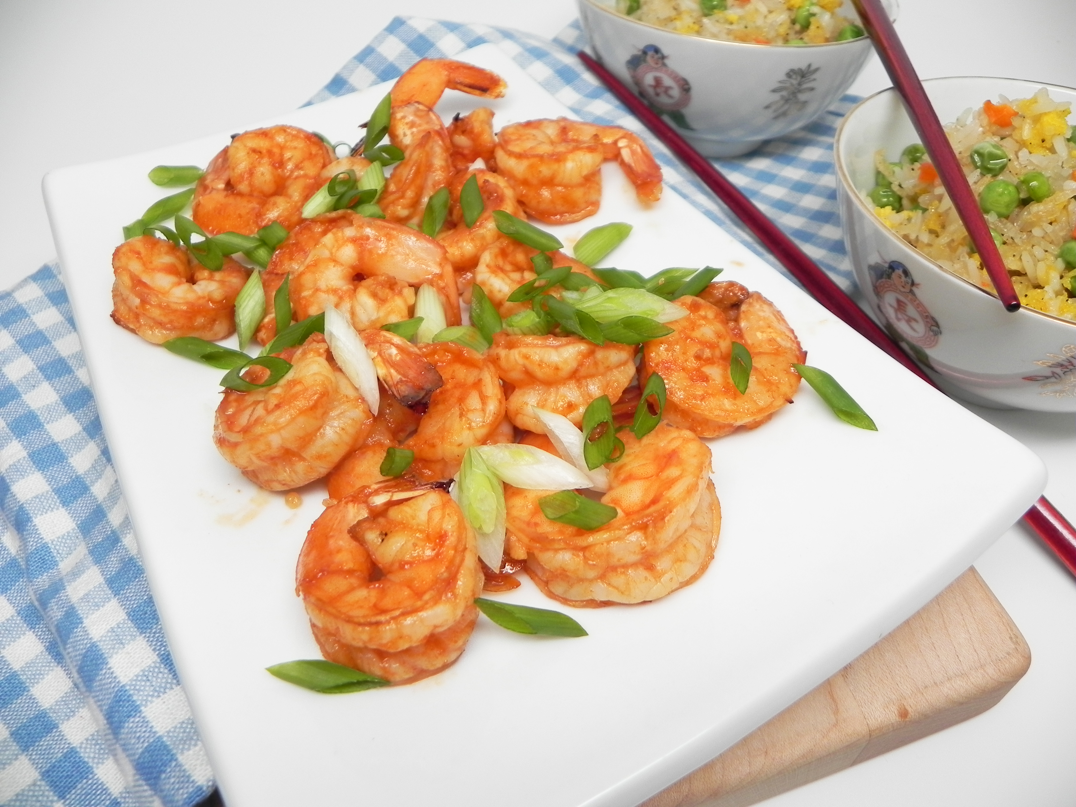 Air Fryer Sriracha-Honey Shrimp