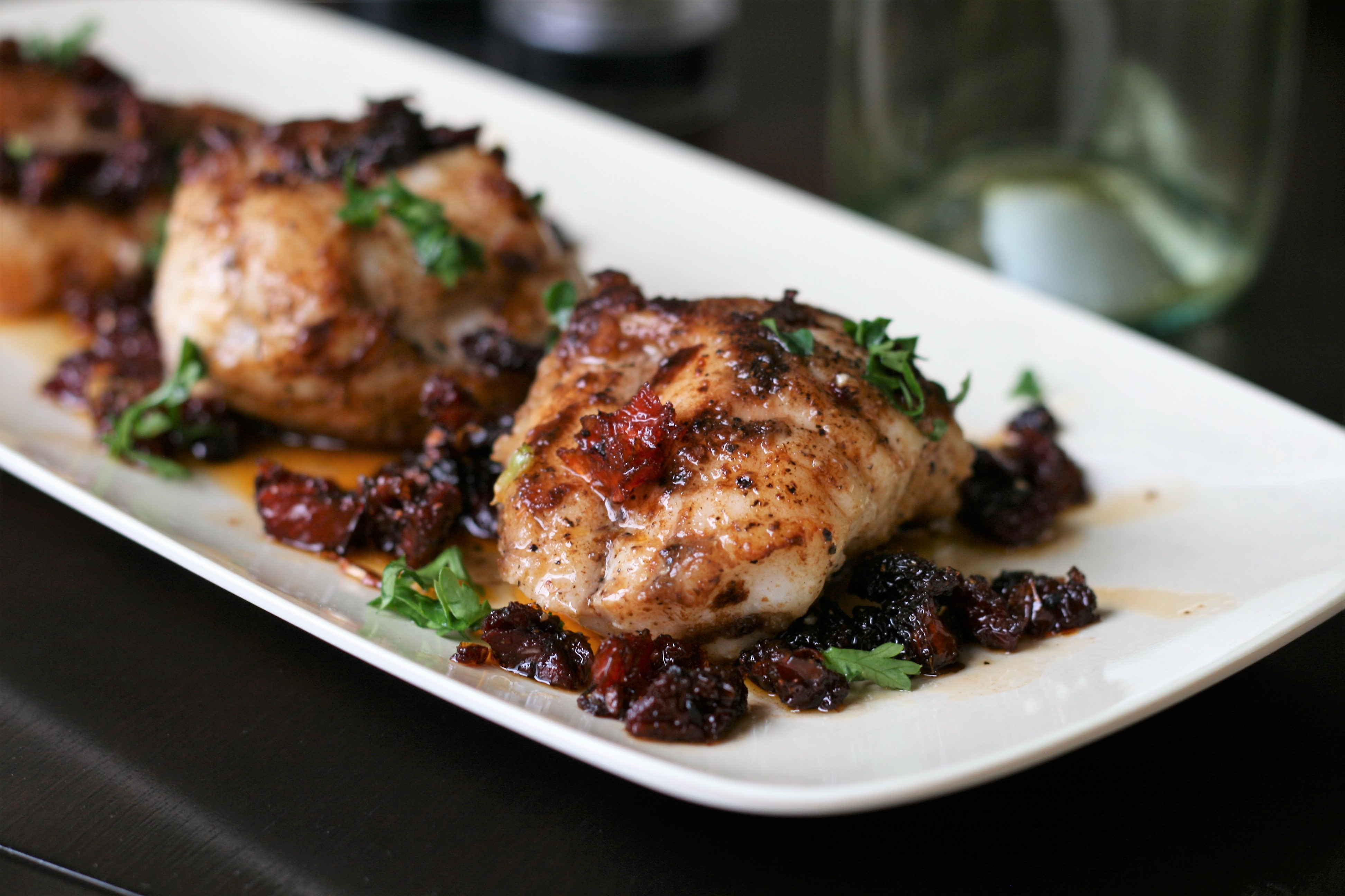 Seared Monkfish with Balsamic and Sun-Dried Tomatoes France C