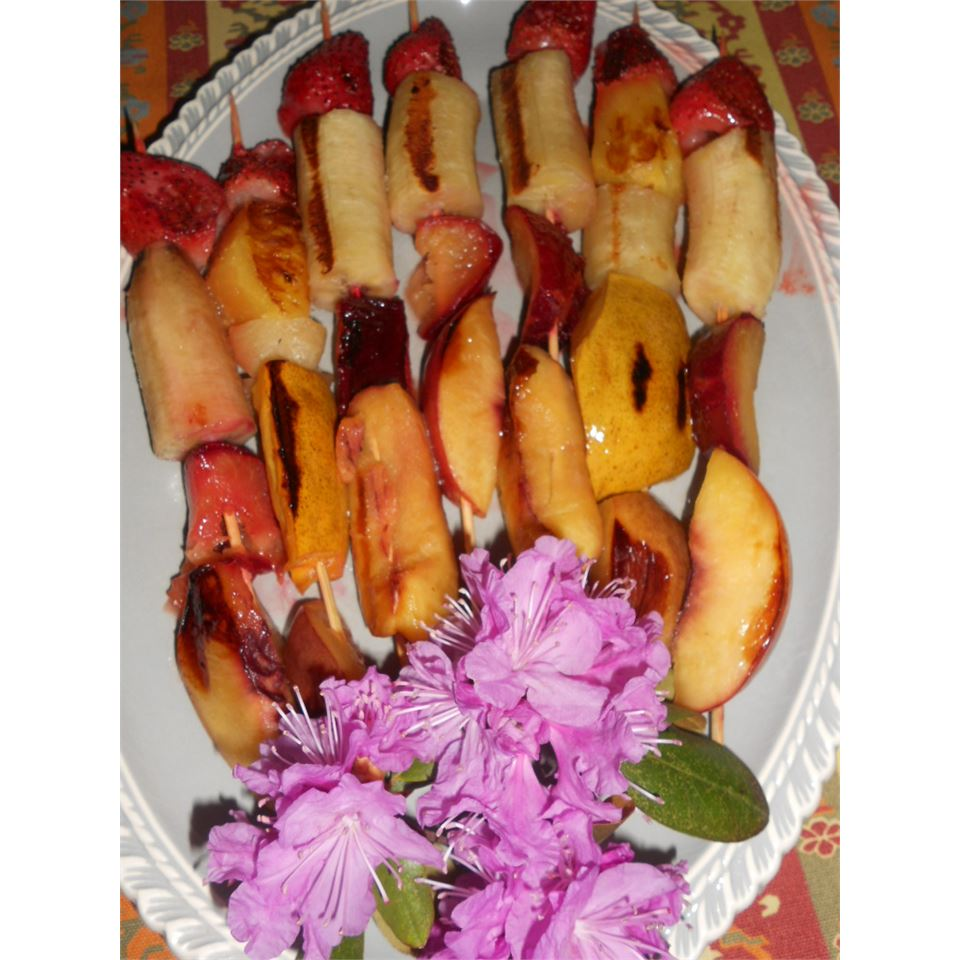 Grilled Fruit Kabobs AuntE