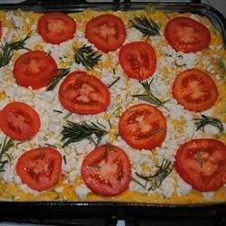 Squash with Tomato and Feta Cheese Jessica