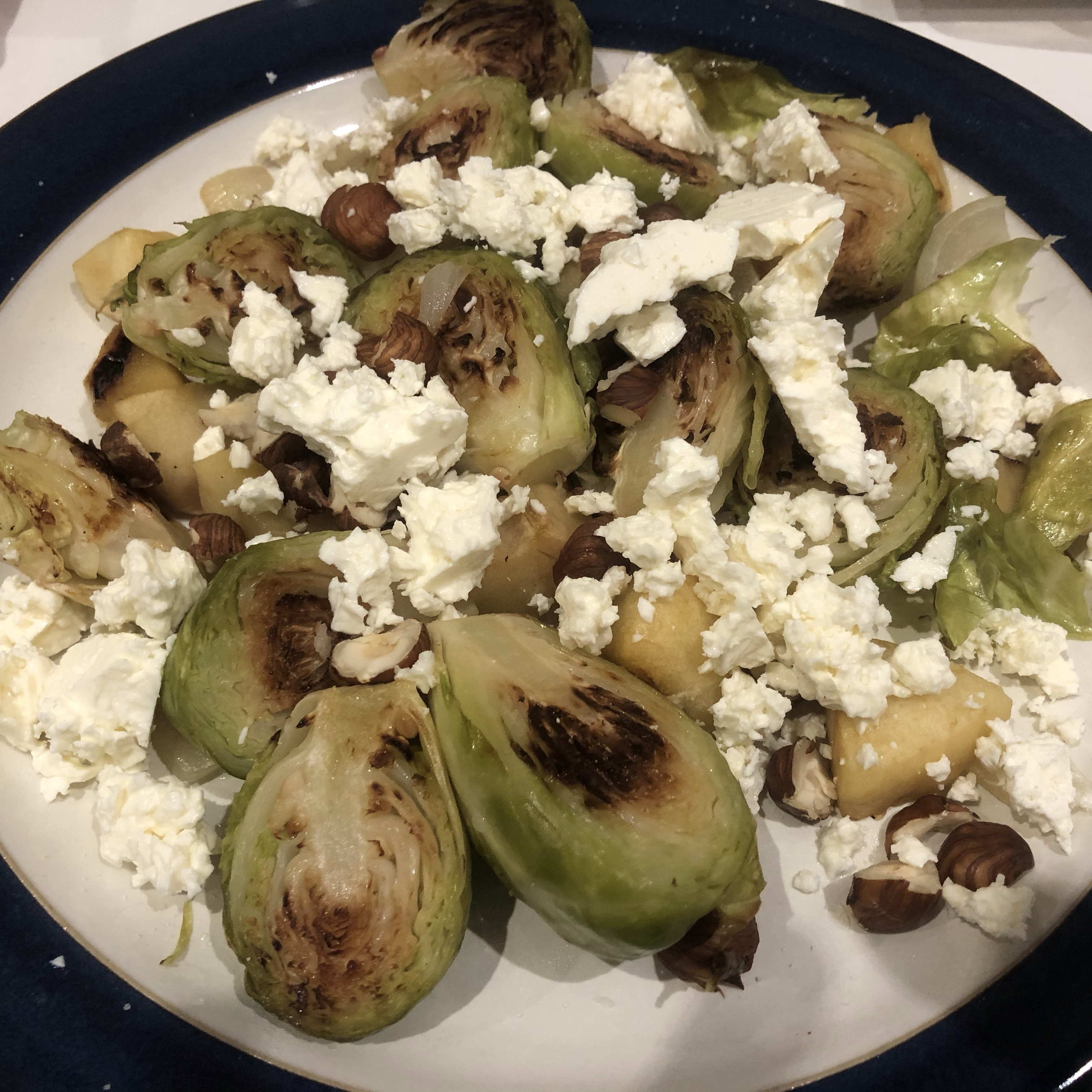 Roasted Apples and Brussels Sprouts MikaB